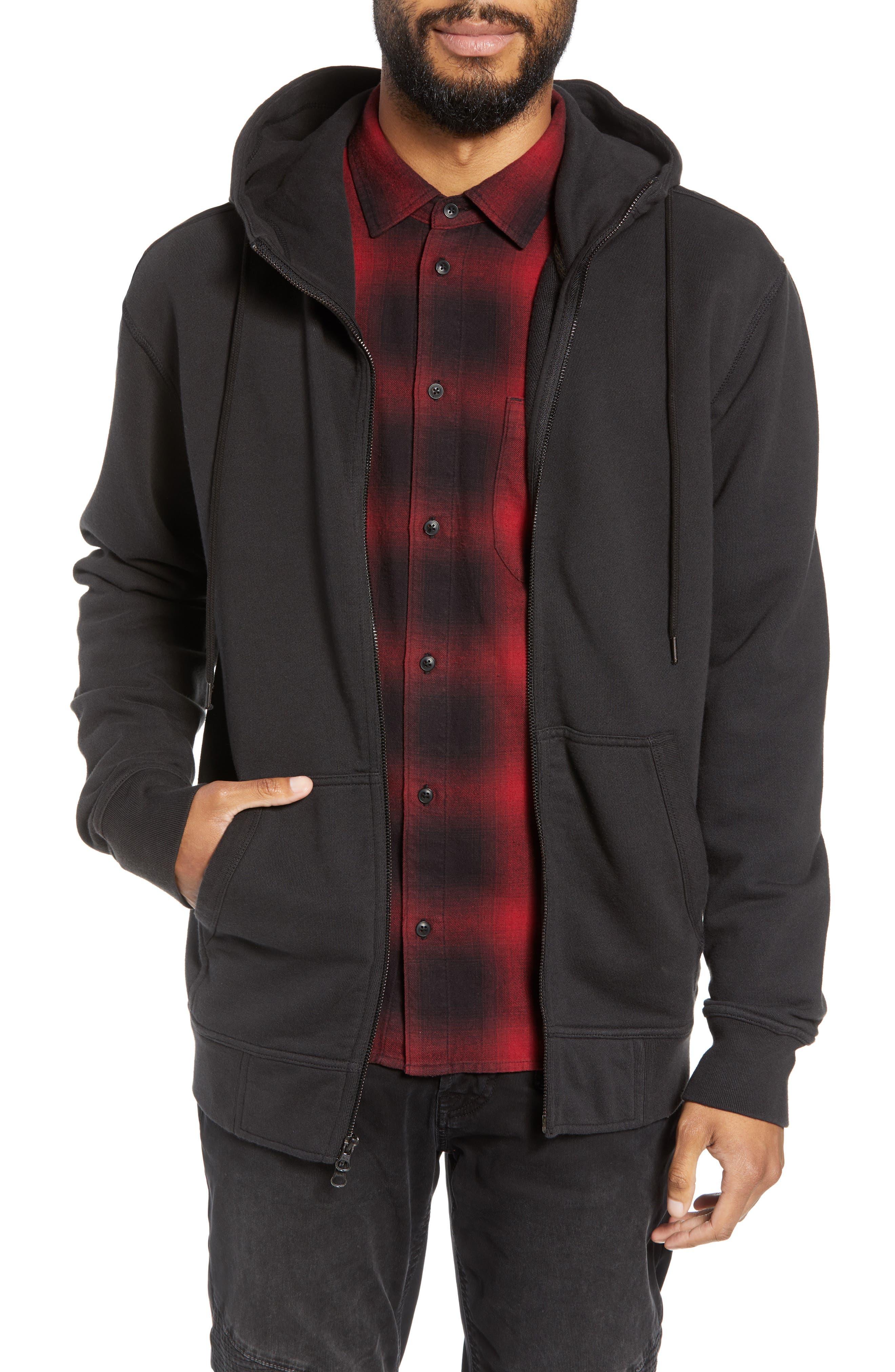 Regular Fit Hooded Zip Sweatshirt,                             Main thumbnail 1, color,                             001