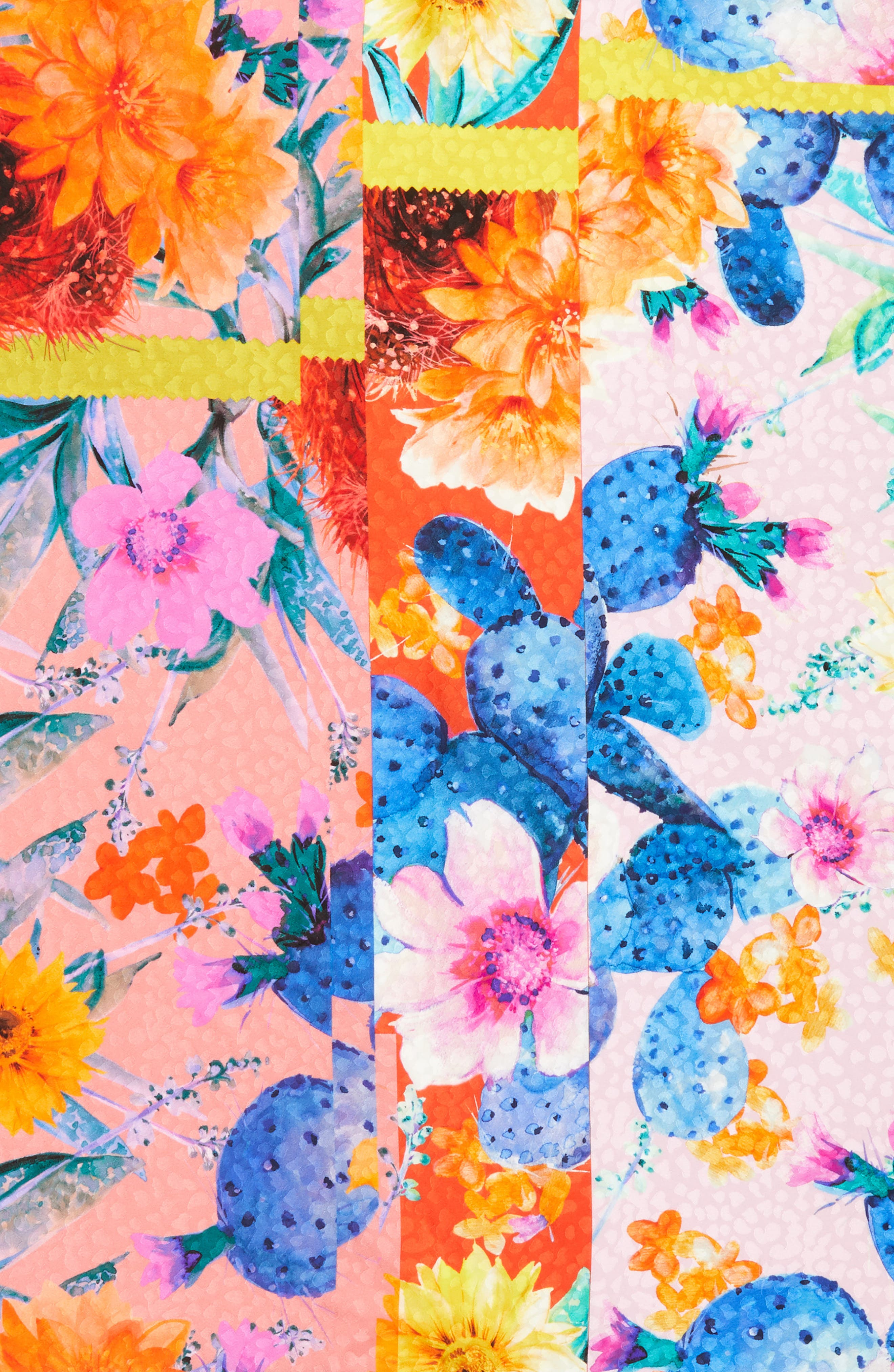 Icona del Sud Square Silk Scarf,                             Alternate thumbnail 4, color,                             CORAL RED/ BLUE