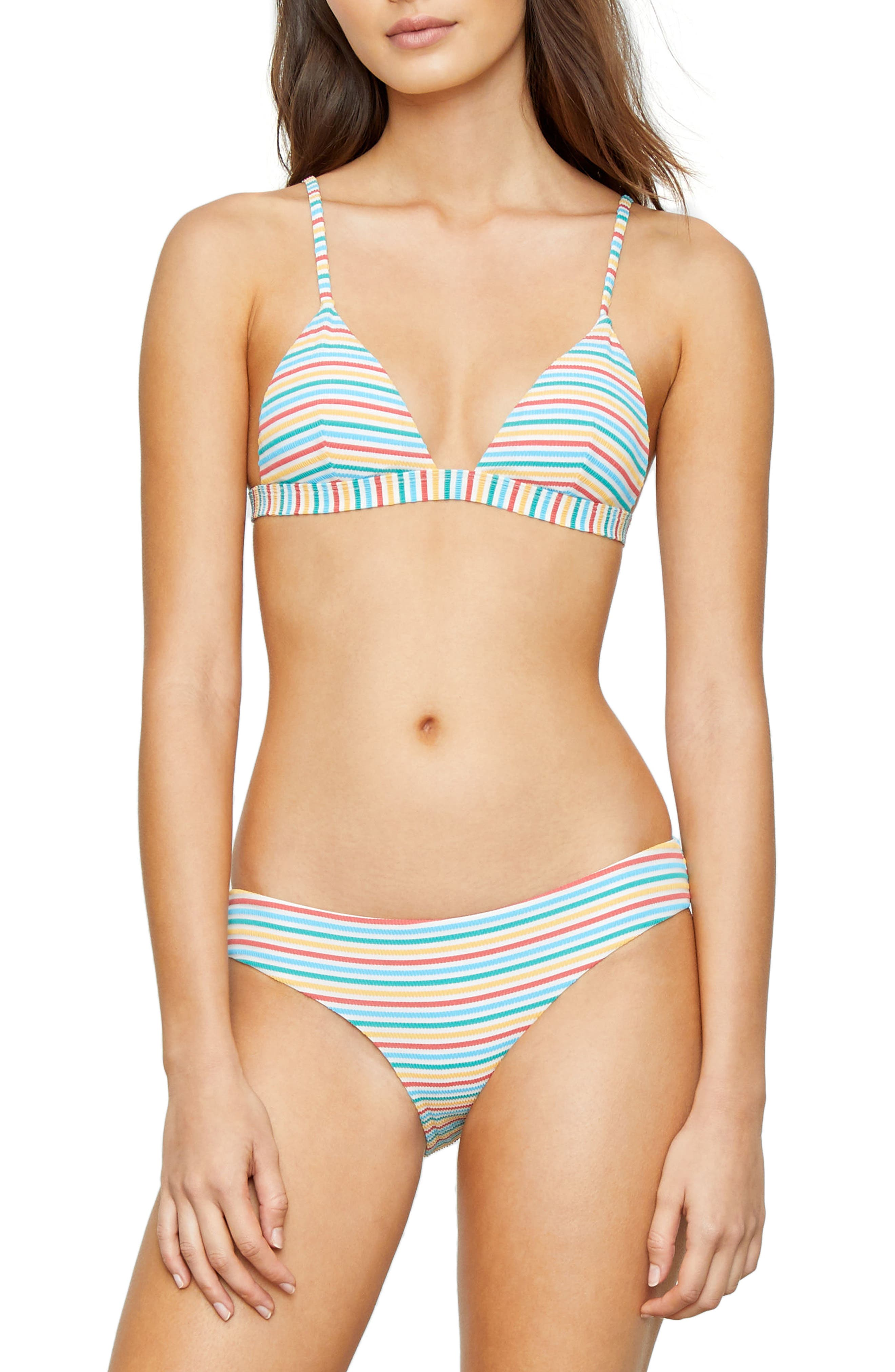 Stripe Bikini Top,                             Alternate thumbnail 7, color,                             700