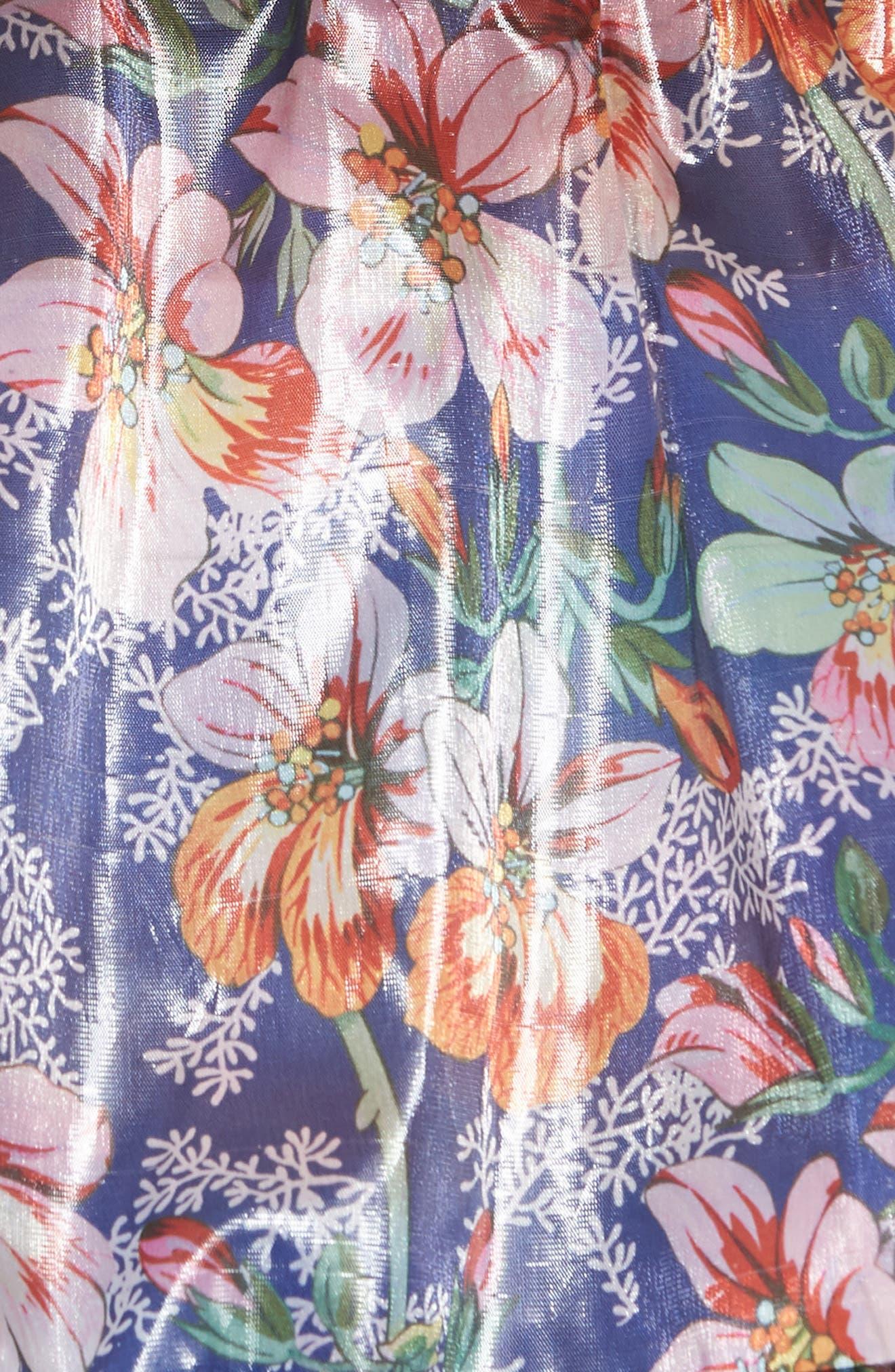 Metallic Blossom Windbreaker,                             Alternate thumbnail 6, color,                             410