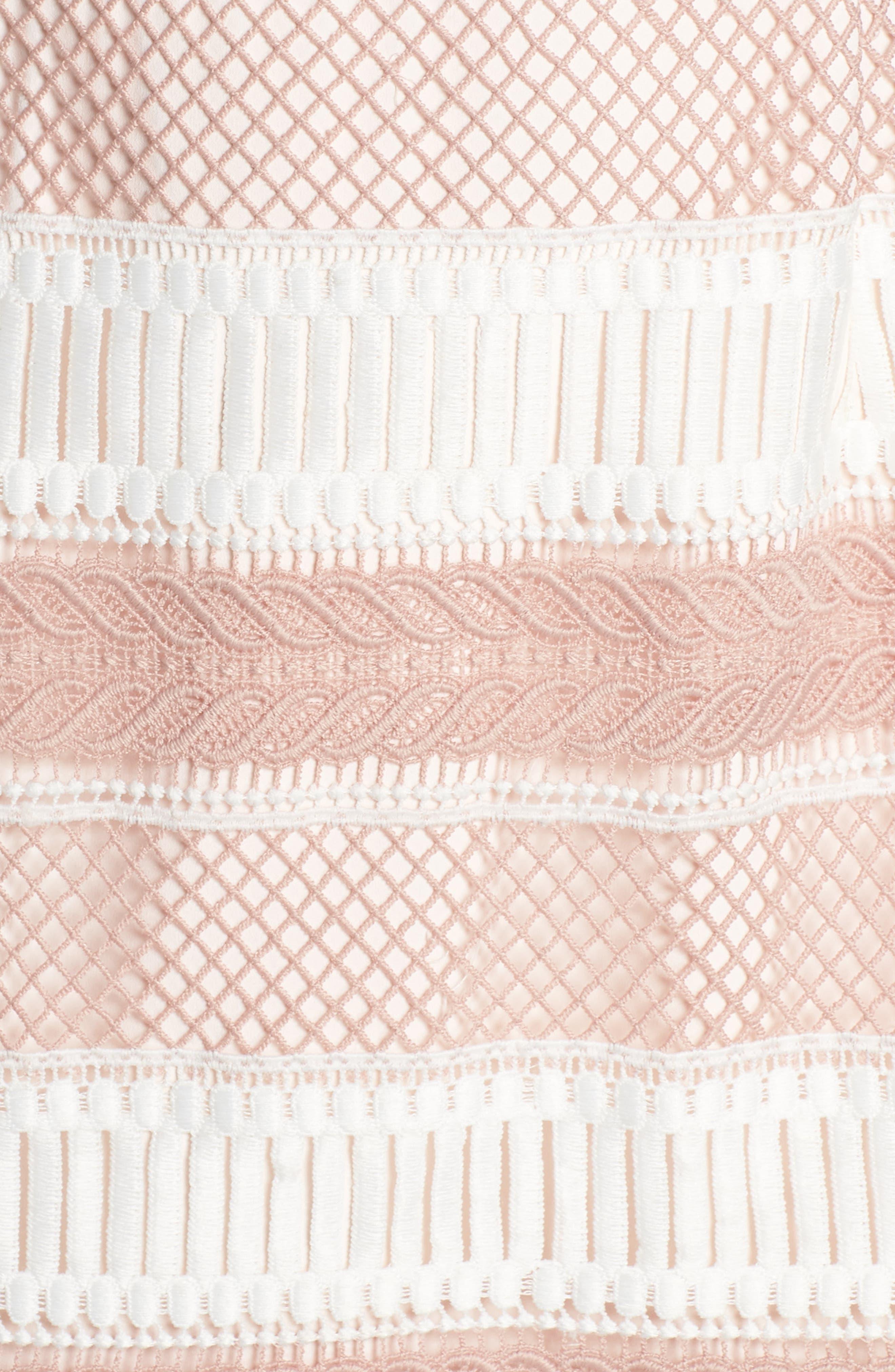 Kingston Stripe Lace Sheath Dress,                             Alternate thumbnail 5, color,                             661