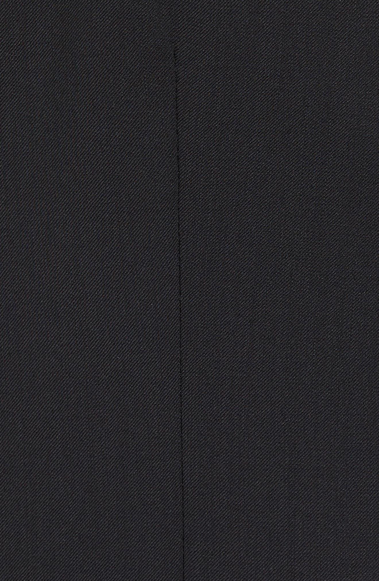 Jones Trim Fit Wool Vest,                             Alternate thumbnail 5, color,                             001
