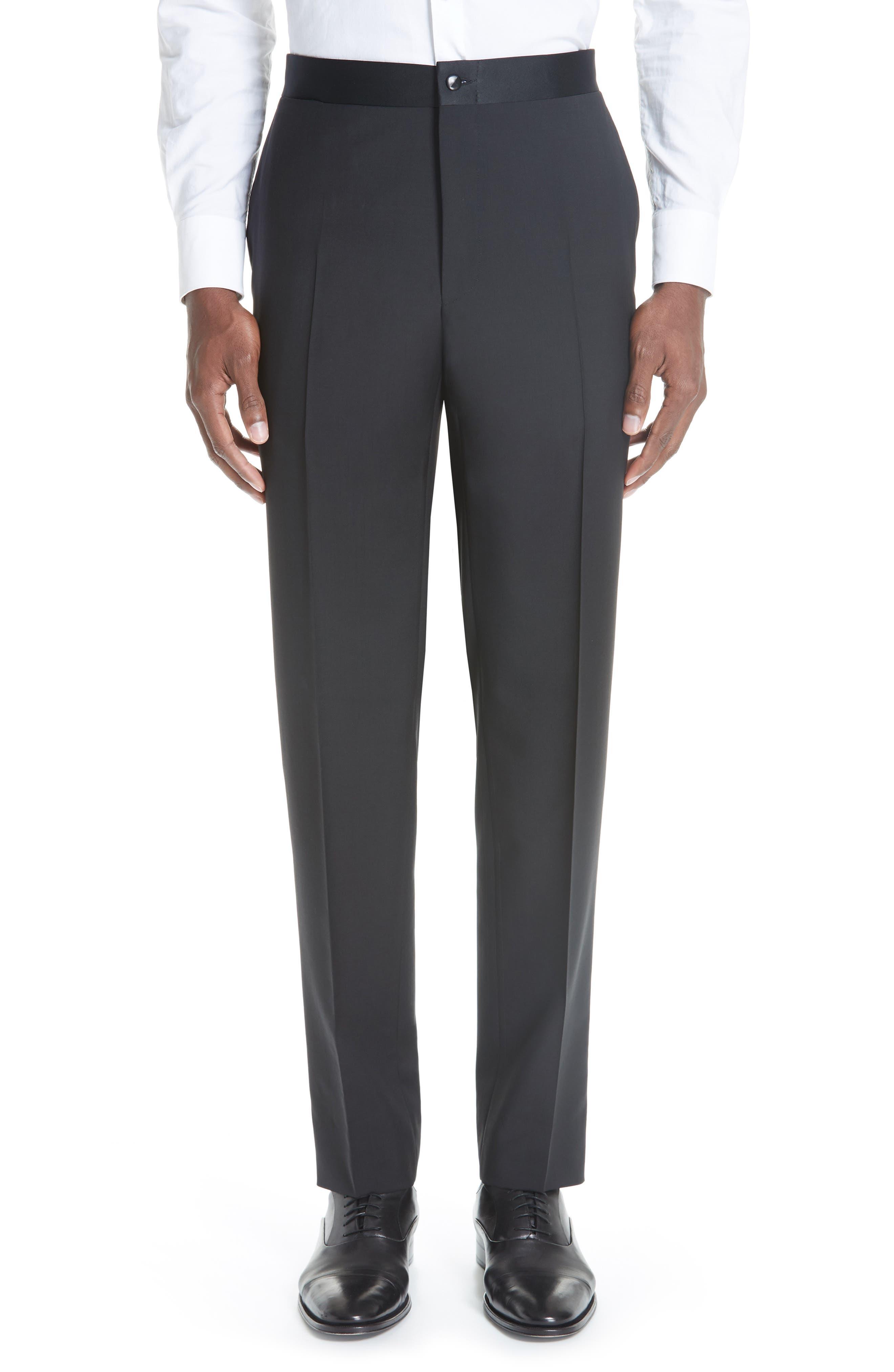 13000 Classic Fit Wool & Mohair Tuxedo,                             Alternate thumbnail 8, color,                             BLACK
