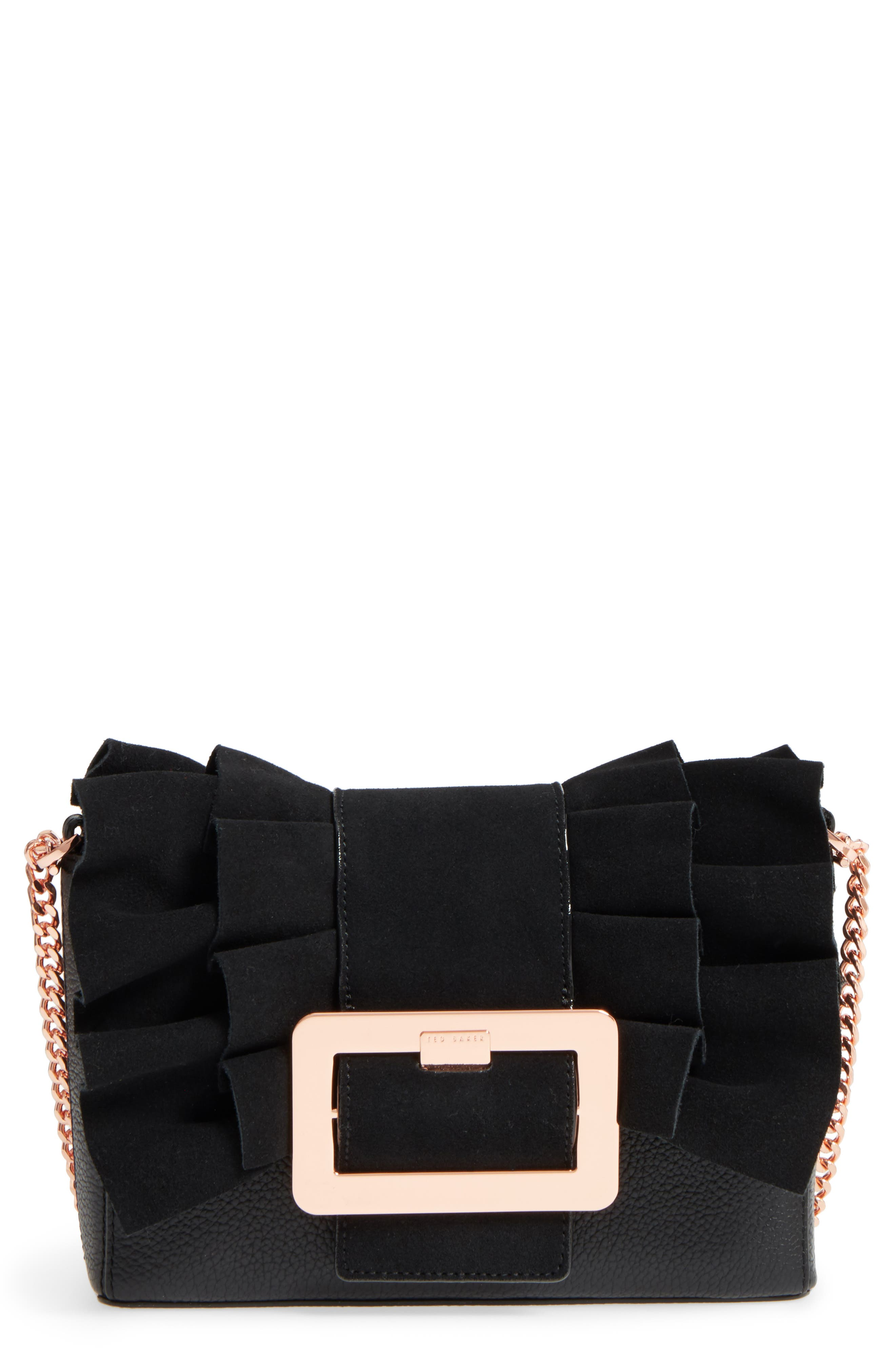 Nerinee Bow Buckle Clutch,                             Main thumbnail 1, color,