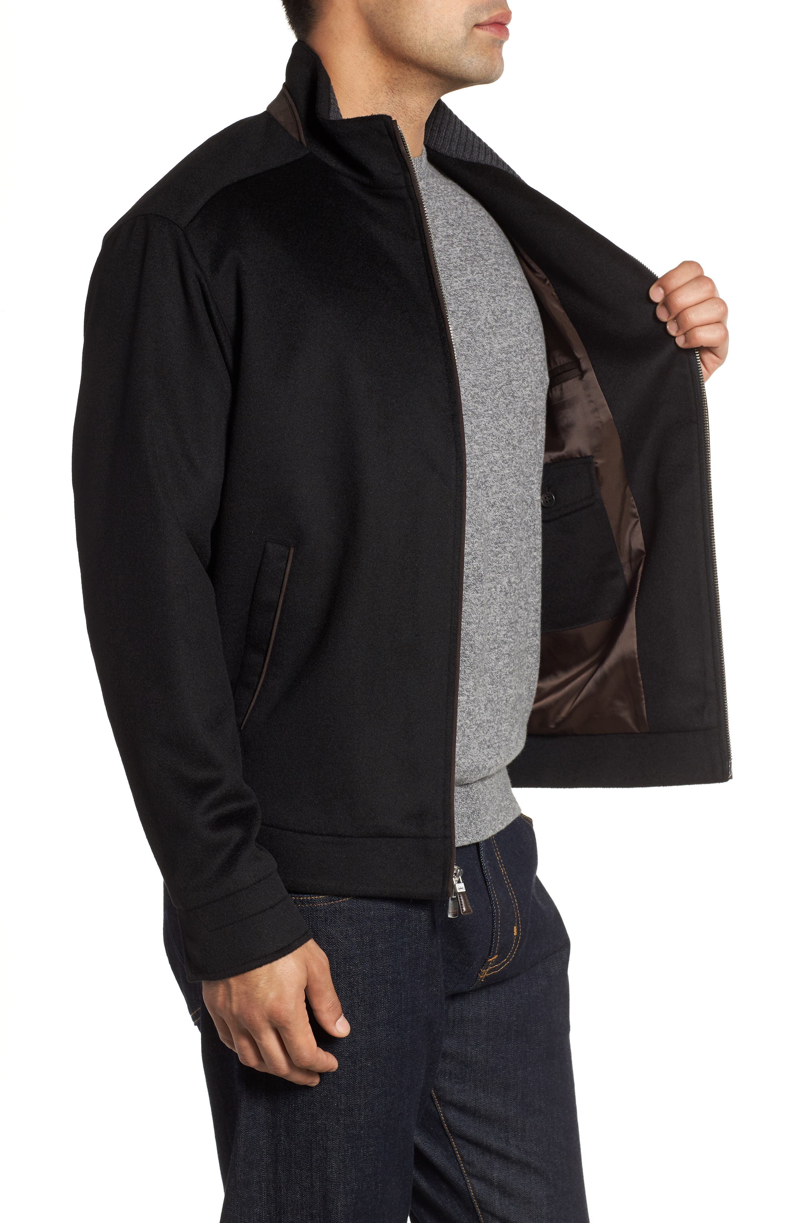 Westport Crown Wool & Cashmere Jacket,                             Alternate thumbnail 3, color,                             001