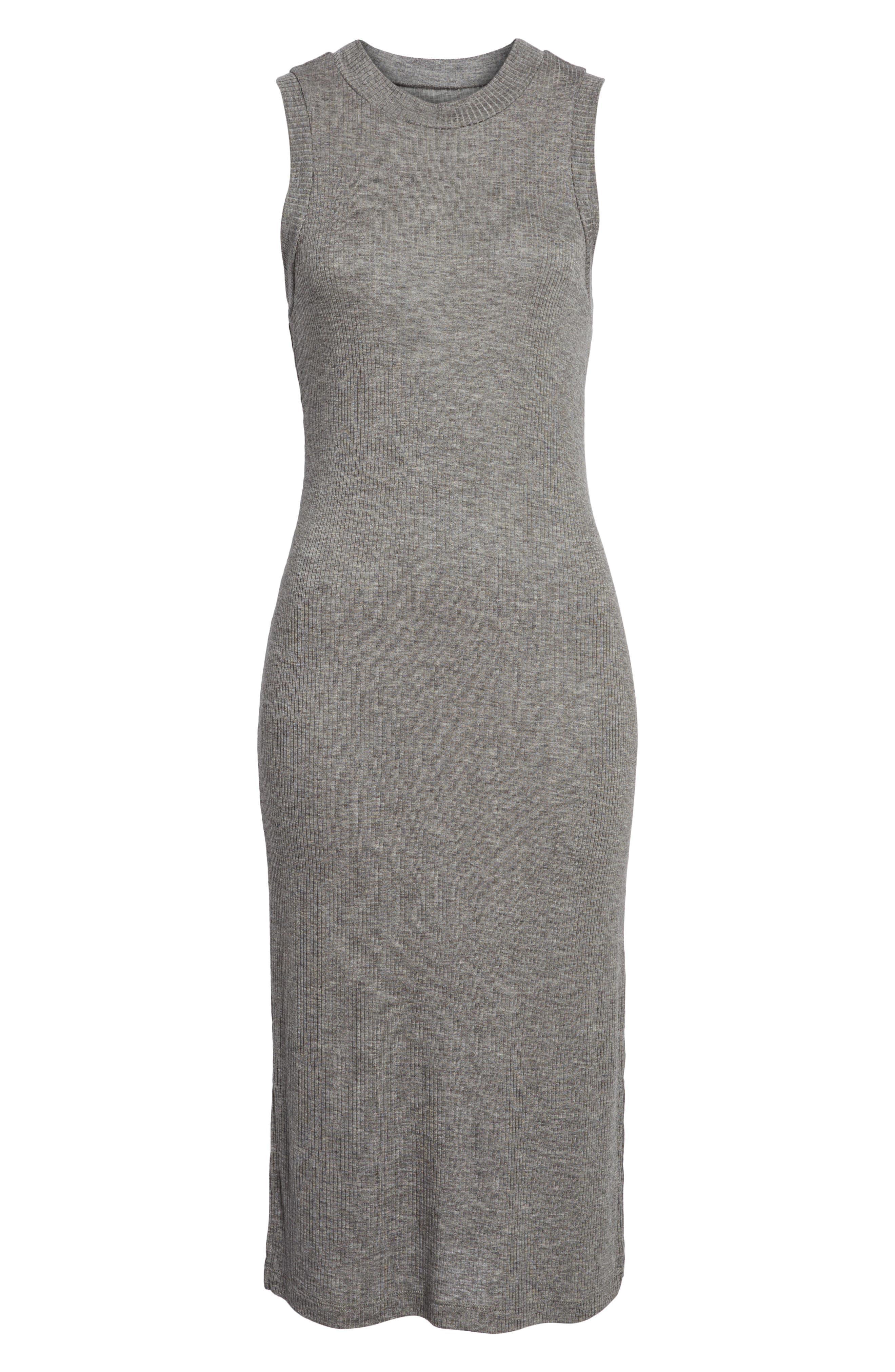 Mock Neck Midi Dress,                             Alternate thumbnail 7, color,                             021