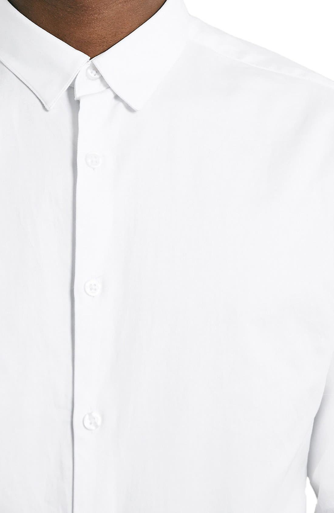 Dress Shirt,                             Alternate thumbnail 4, color,                             WHITE