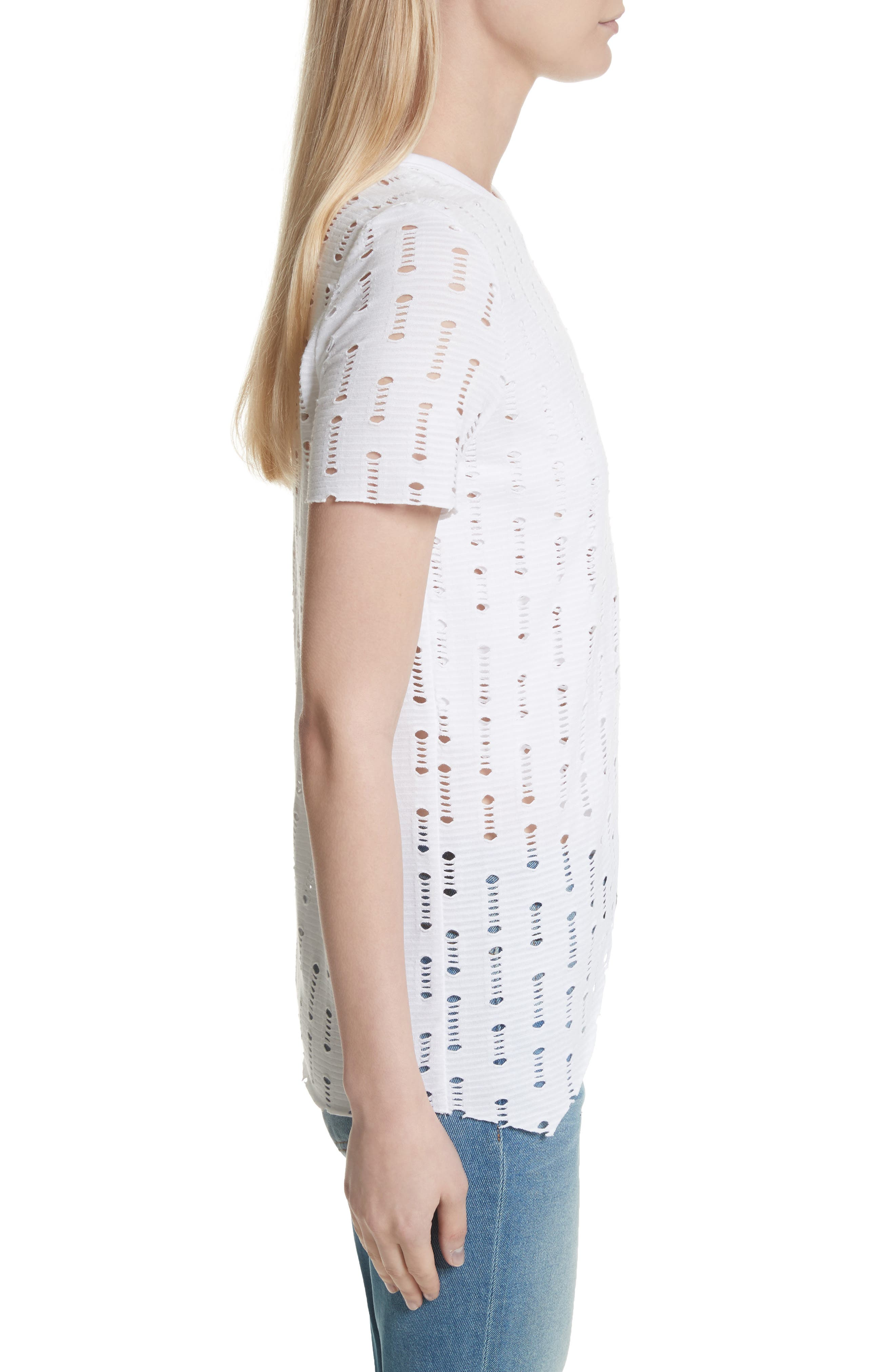 Perforated Tee,                             Alternate thumbnail 3, color,                             100