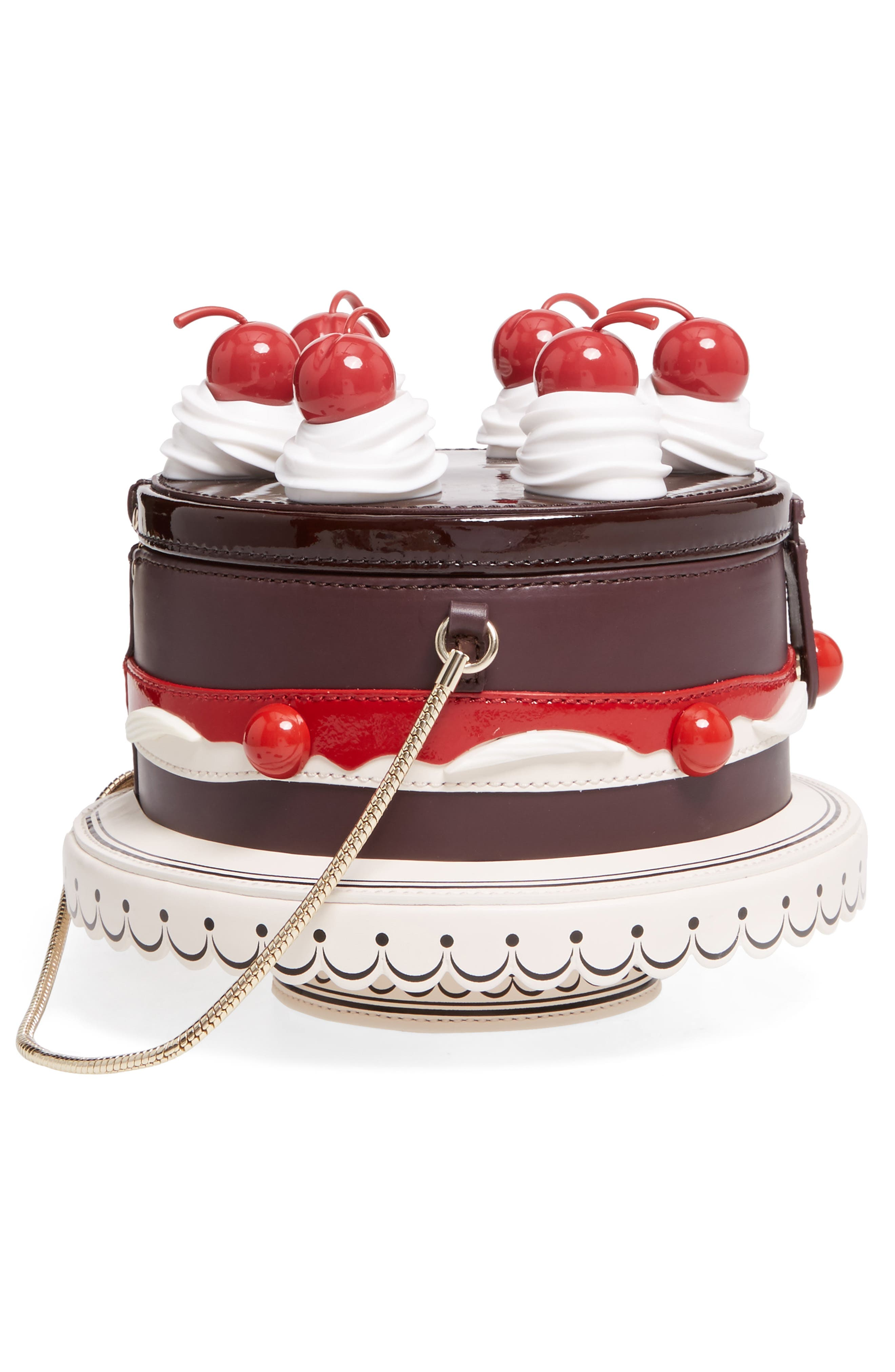 ma cherie - cherry cake leather shoulder bag,                             Alternate thumbnail 5, color,                             200