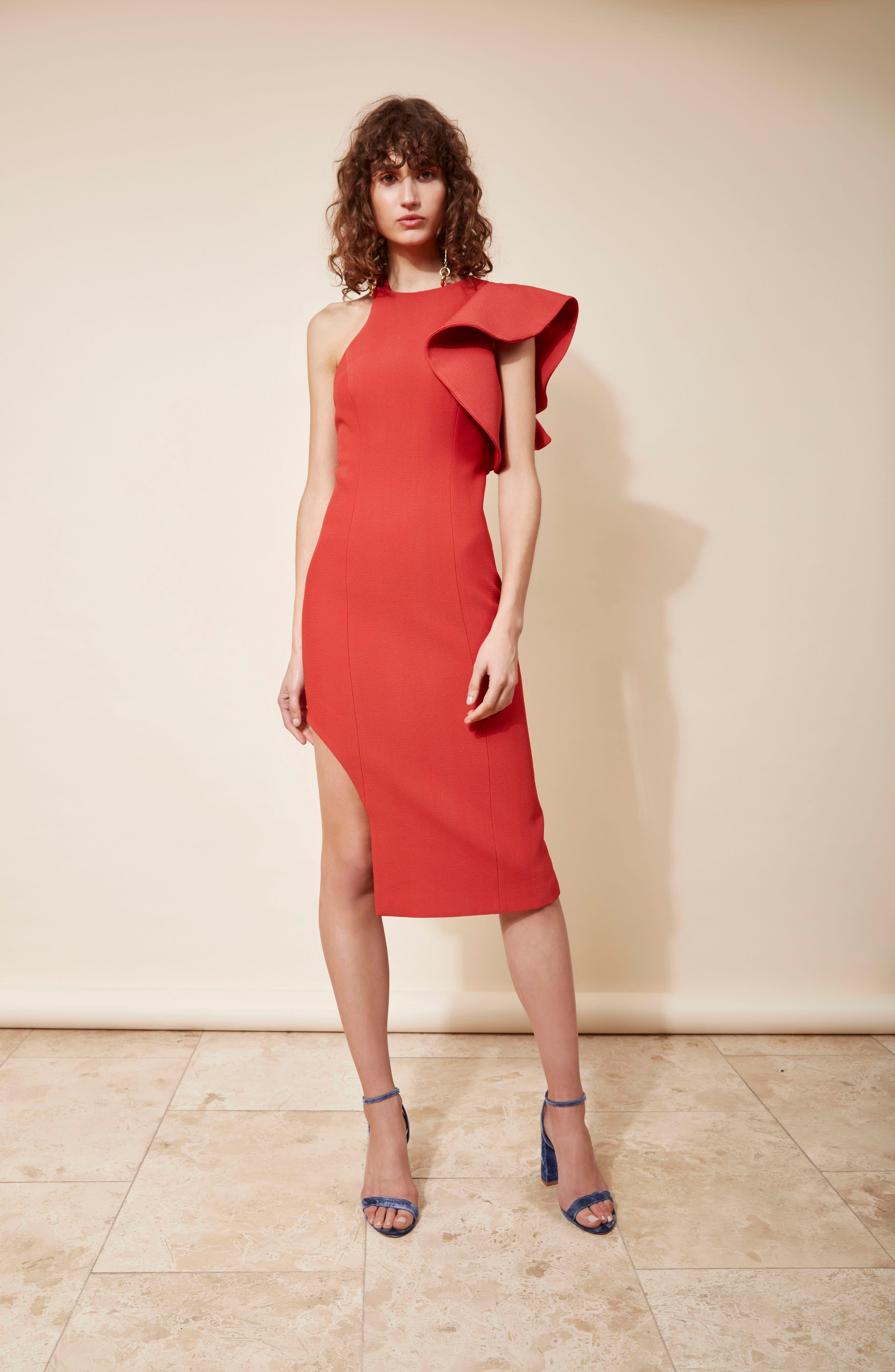 Infinite Asymmetrical Dress,                             Alternate thumbnail 7, color,                             621