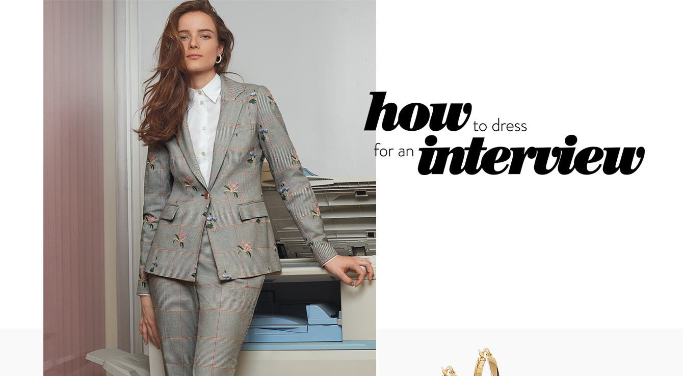How to dress for an interview: business formal, creative and tech.