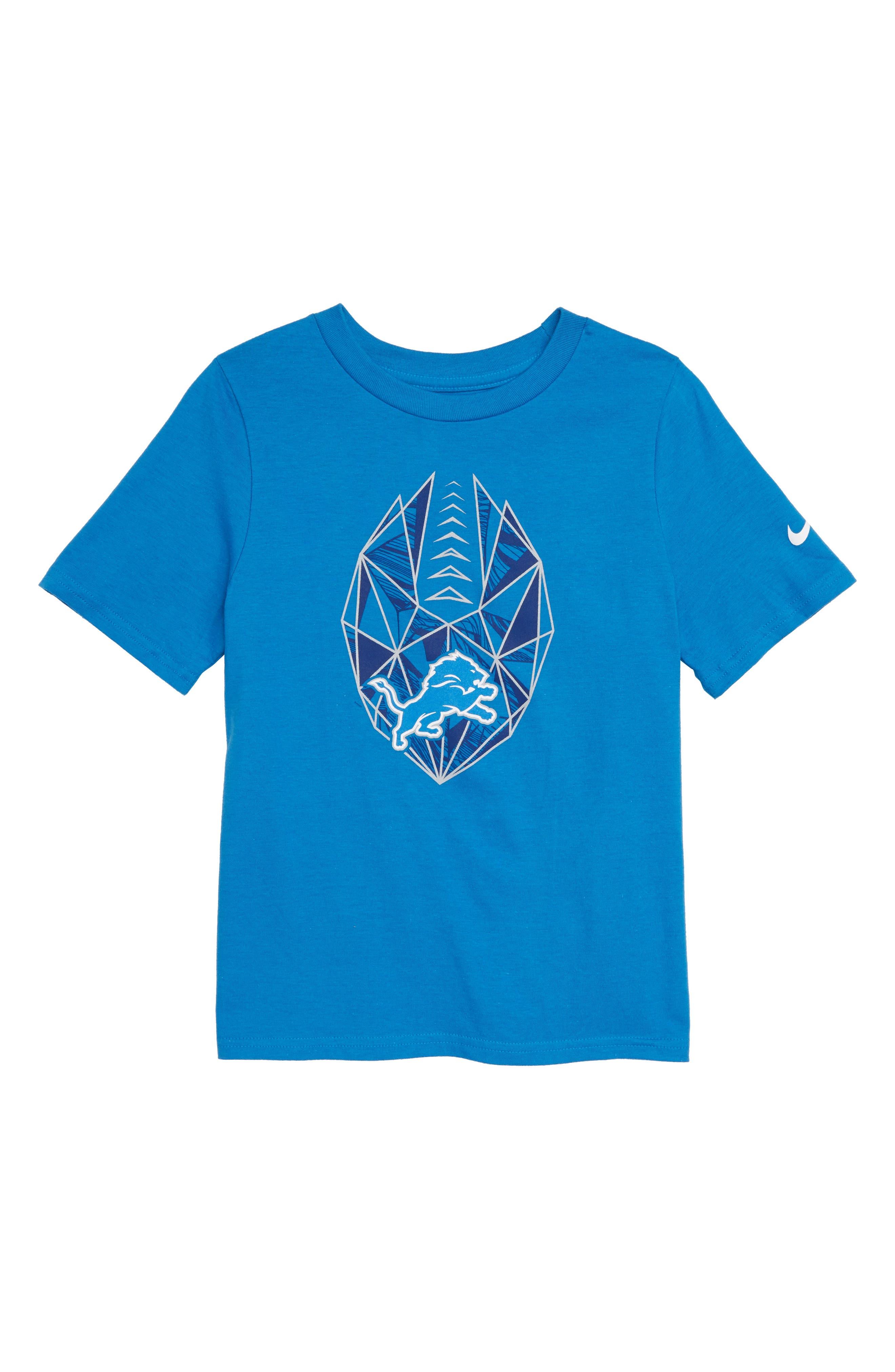 NFL Logo Detroit Lions Graphic T-Shirt,                             Main thumbnail 1, color,                             BLUE
