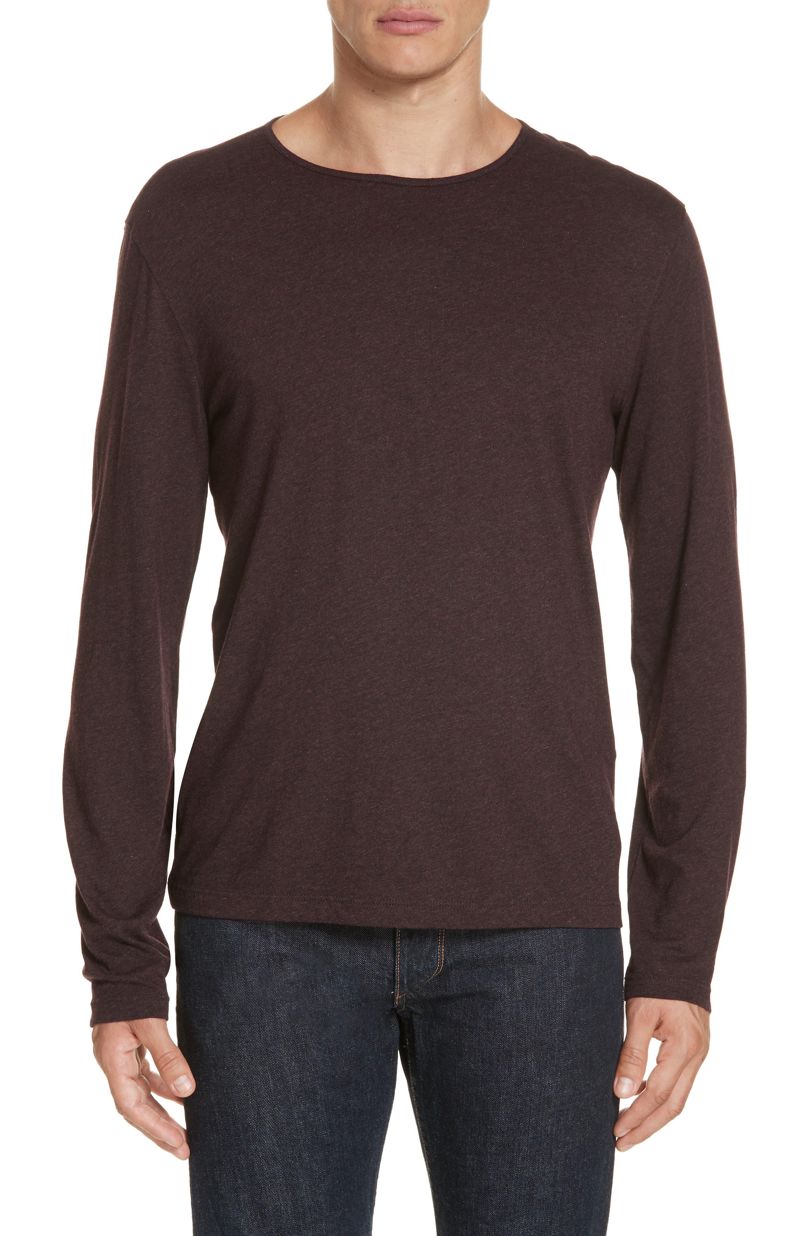 Long Sleeve T-Shirt,                         Main,                         color, PORT
