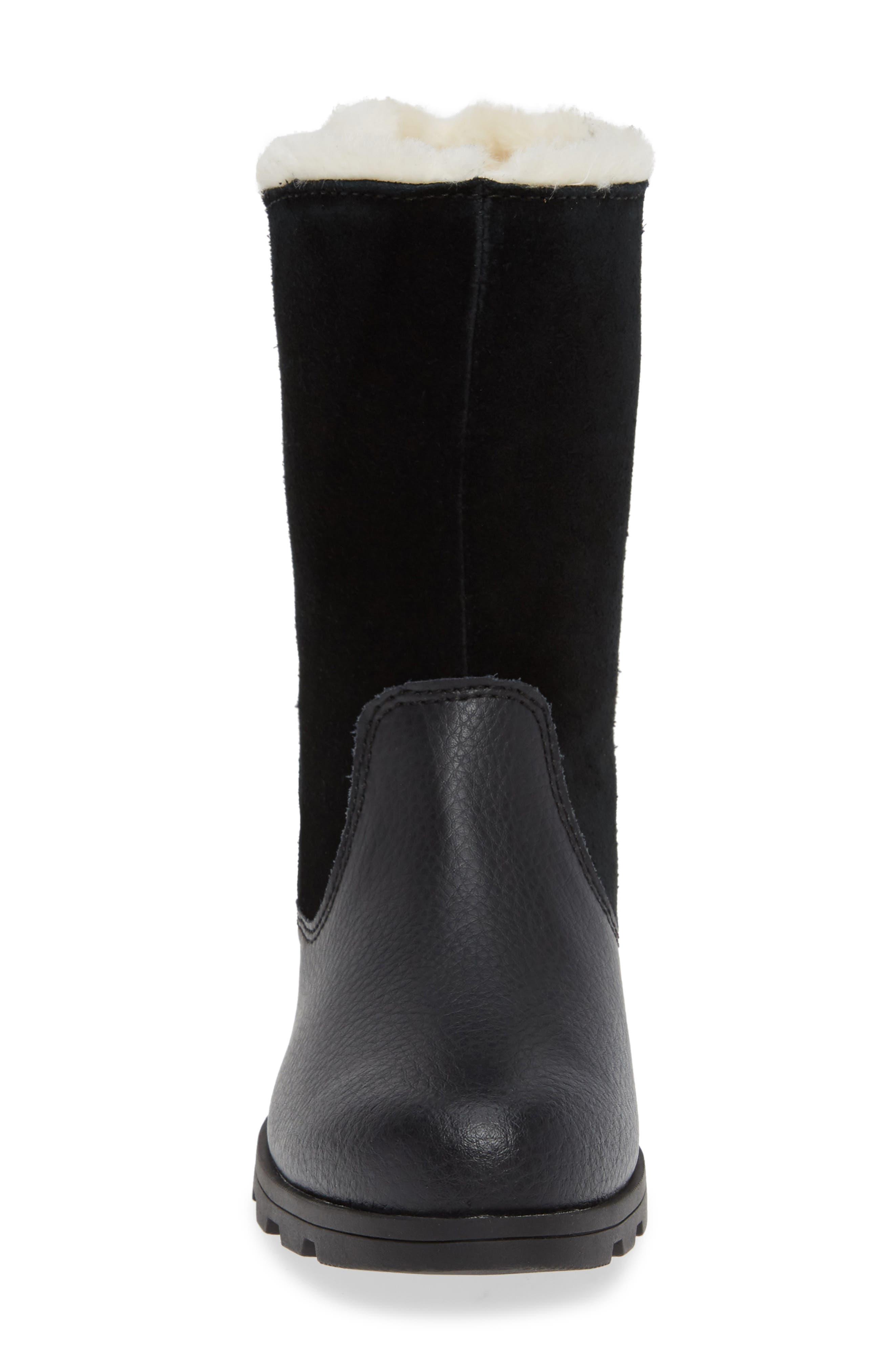 Emelie Waterproof Faux Fur Lined Boot,                             Alternate thumbnail 4, color,                             010