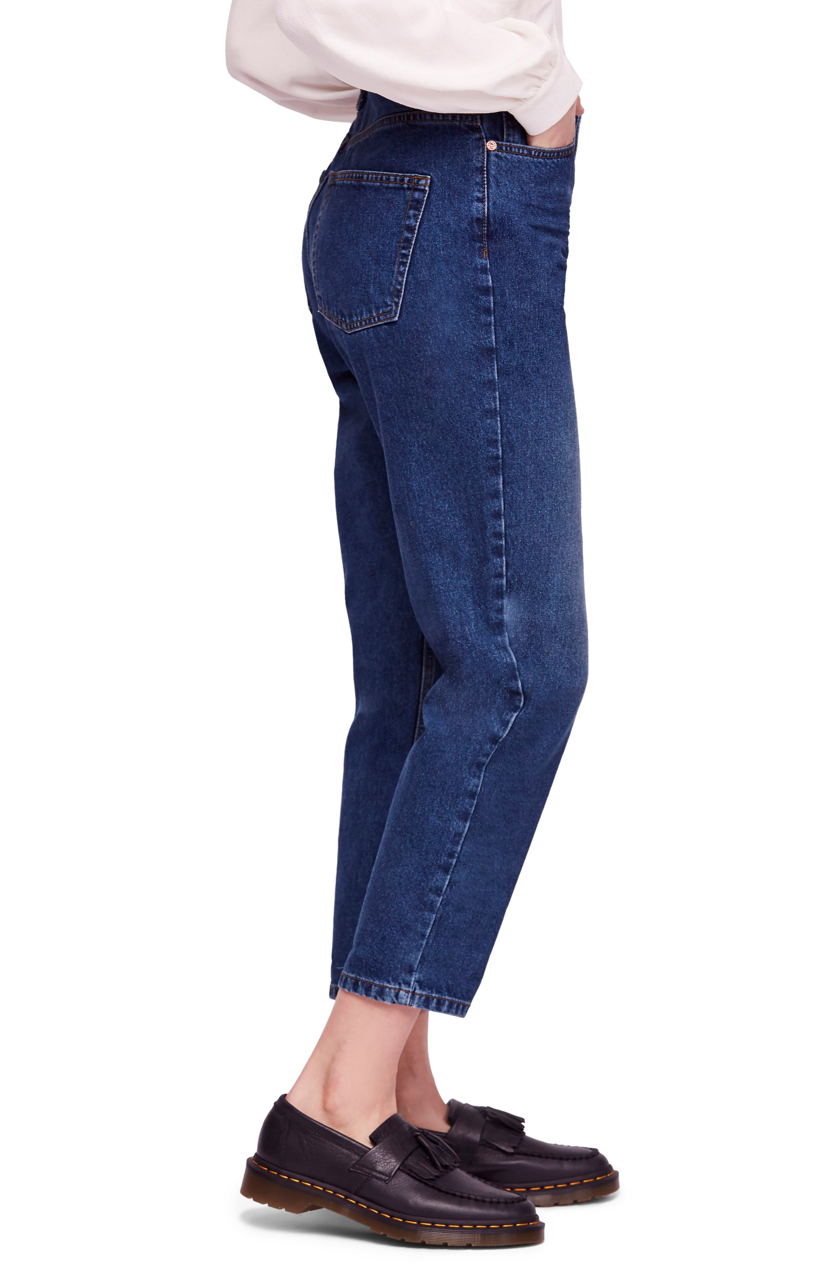 We the Free by Free People Mom Ankle Jeans,                             Alternate thumbnail 3, color,                             DARK DENIM