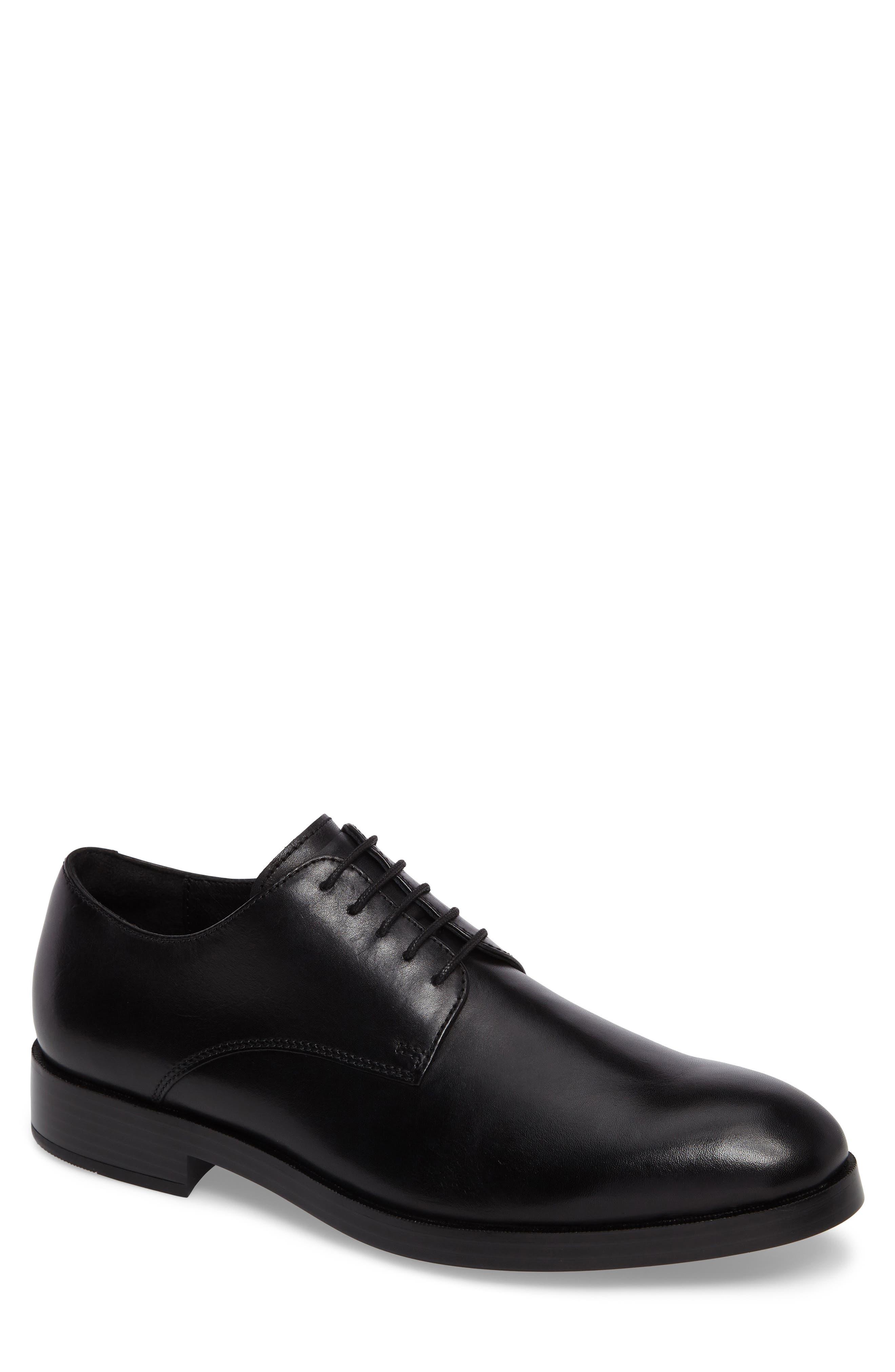 'Harrison Grand' Plain Toe Derby,                         Main,                         color, BLACK