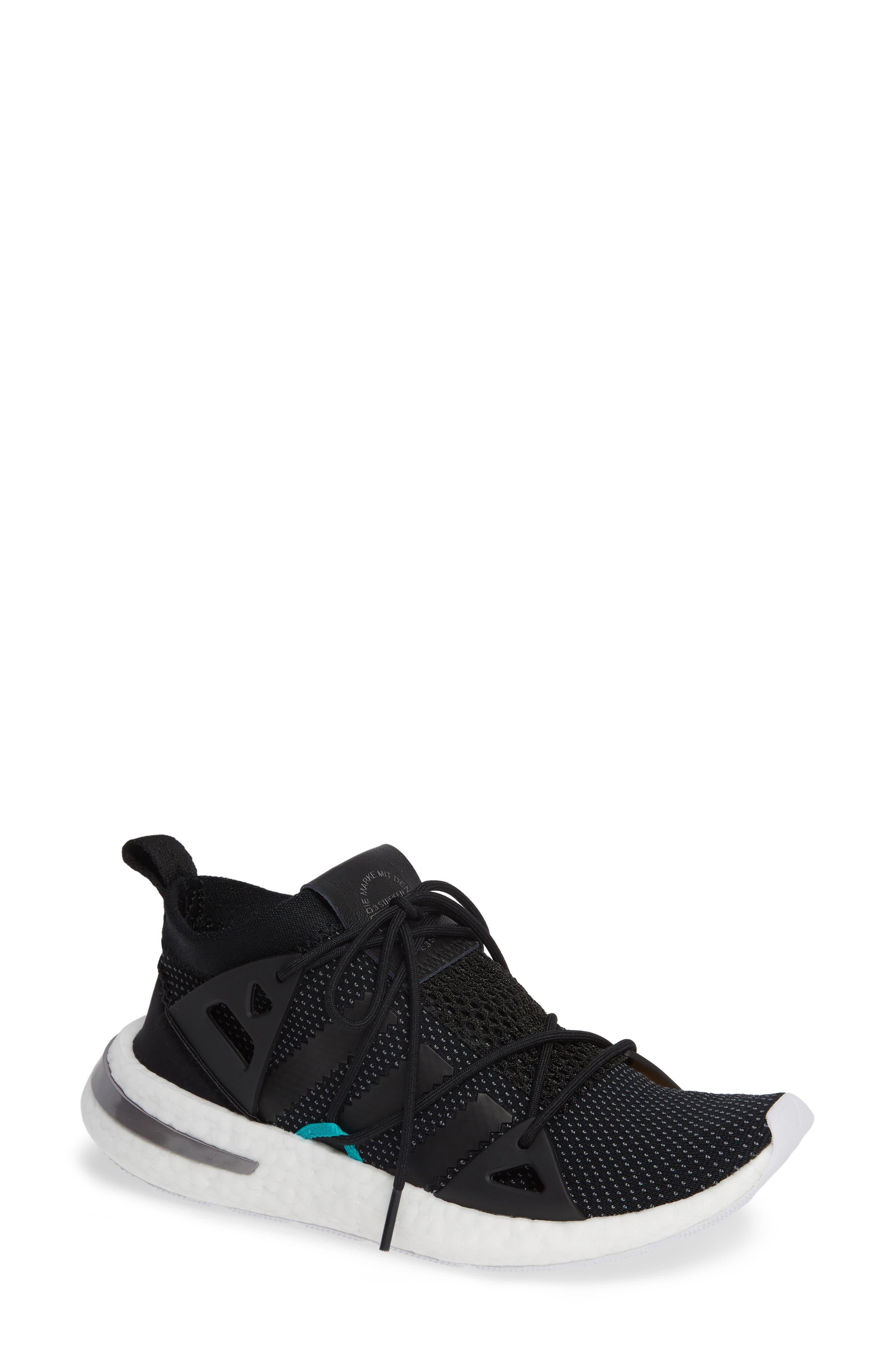 Arkyn Sneaker,                         Main,                         color, BLACK/ BLACK/ WHITE