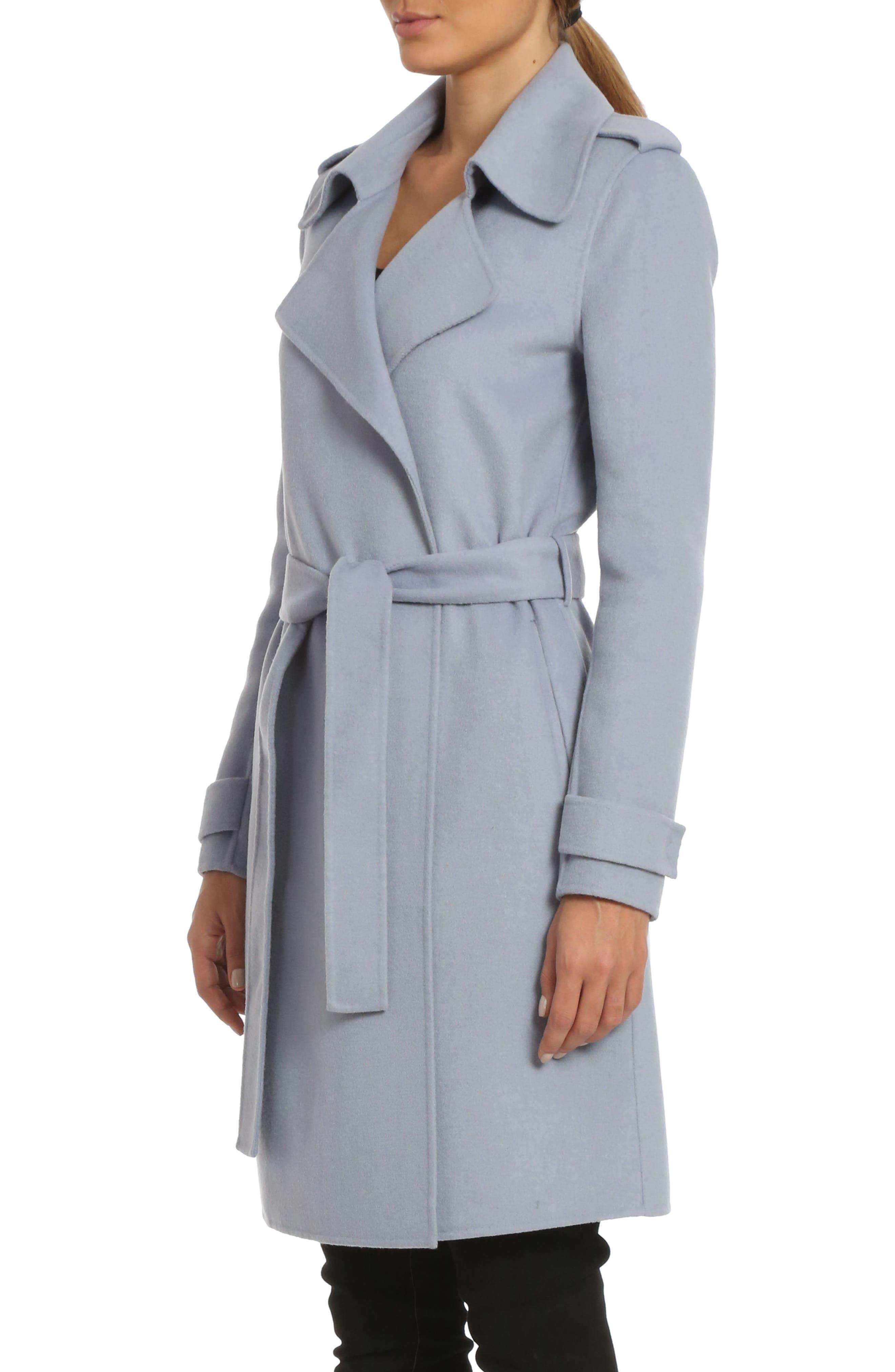 Alexis Double Face Wool Blend Long Wrap Coat,                             Alternate thumbnail 3, color,                             456