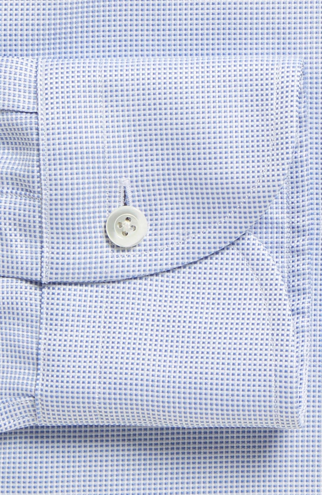 Classic Fit Check Dress Shirt,                             Alternate thumbnail 2, color,                             BLUE