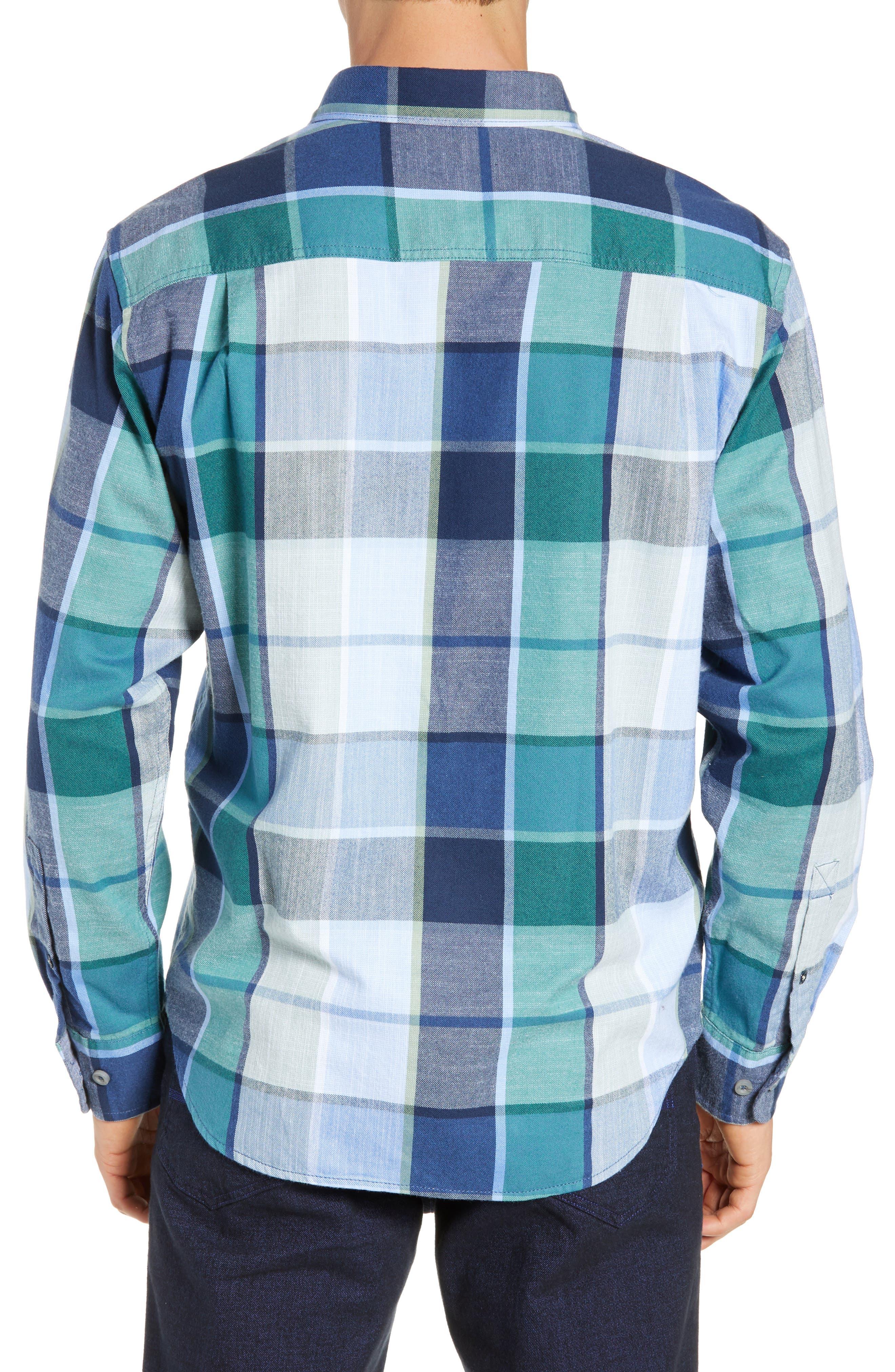 Heredia Plaid Sport Shirt,                             Alternate thumbnail 3, color,                             ZEPHYR BLUE