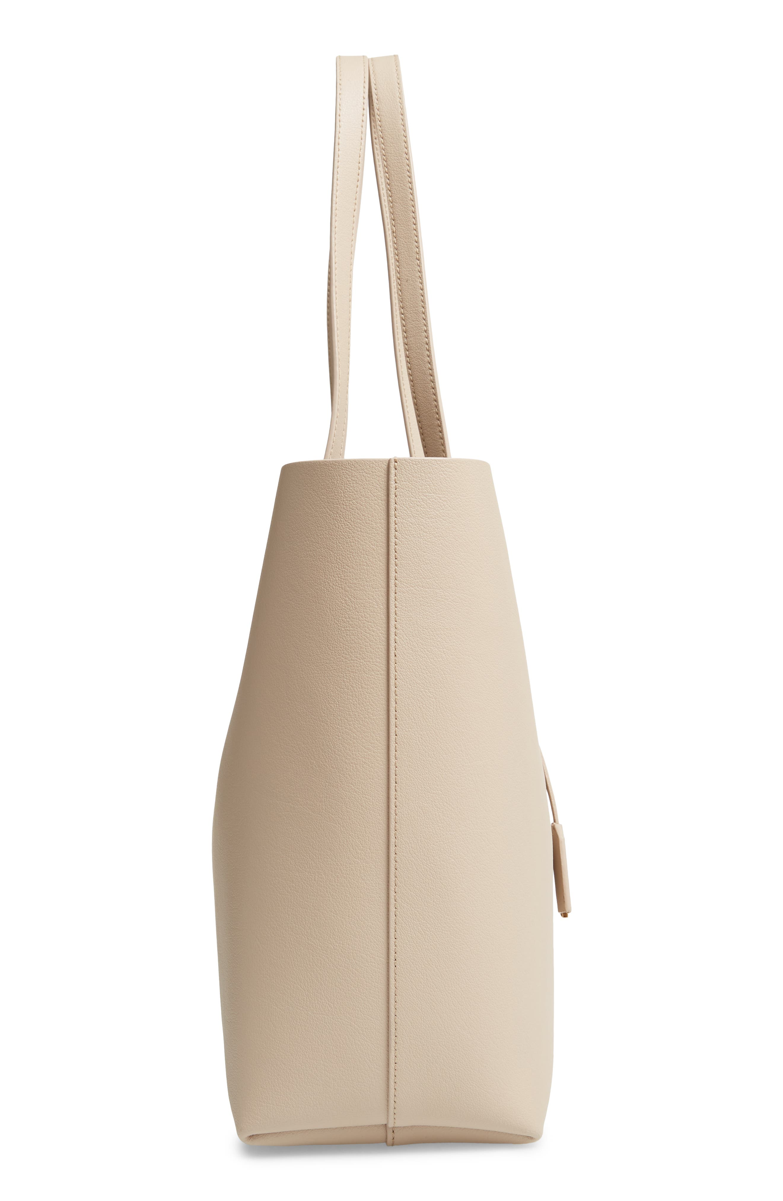 'Shopping' Leather Tote,                             Alternate thumbnail 5, color,                             CREMASOFT