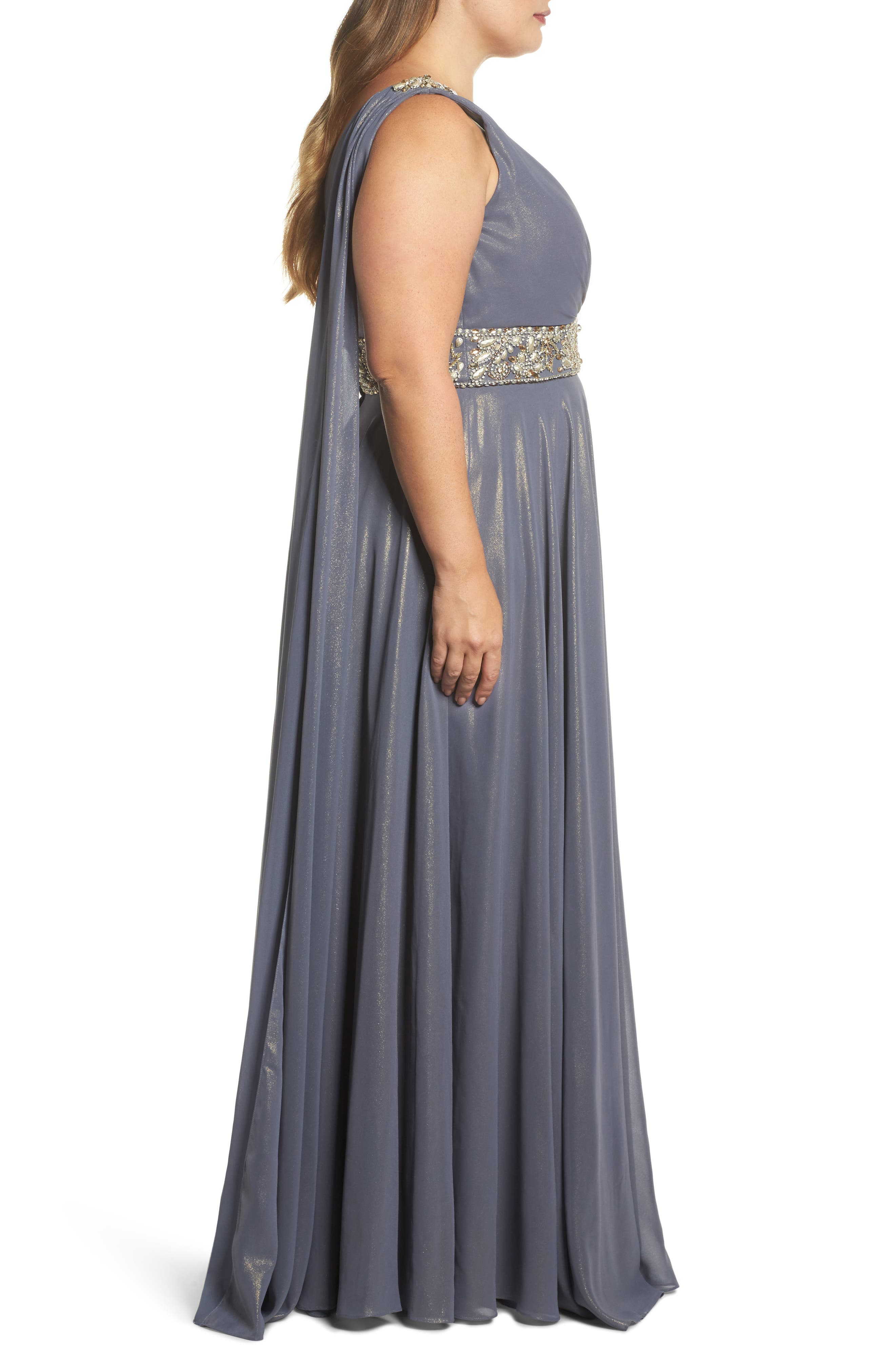 Embellished A-Line Gown,                             Alternate thumbnail 3, color,                             020