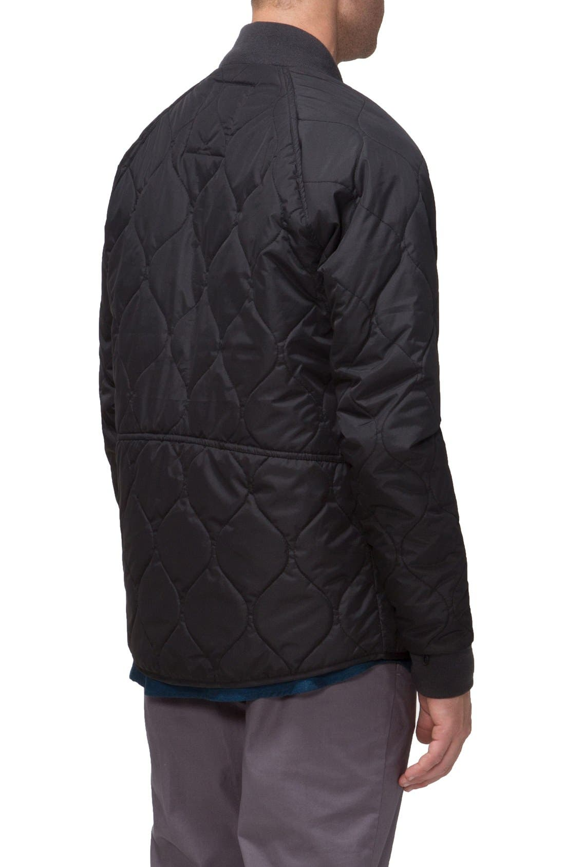 Fullton Zip-In Compatible Quilted Bomber Jacket,                             Alternate thumbnail 2, color,                             001