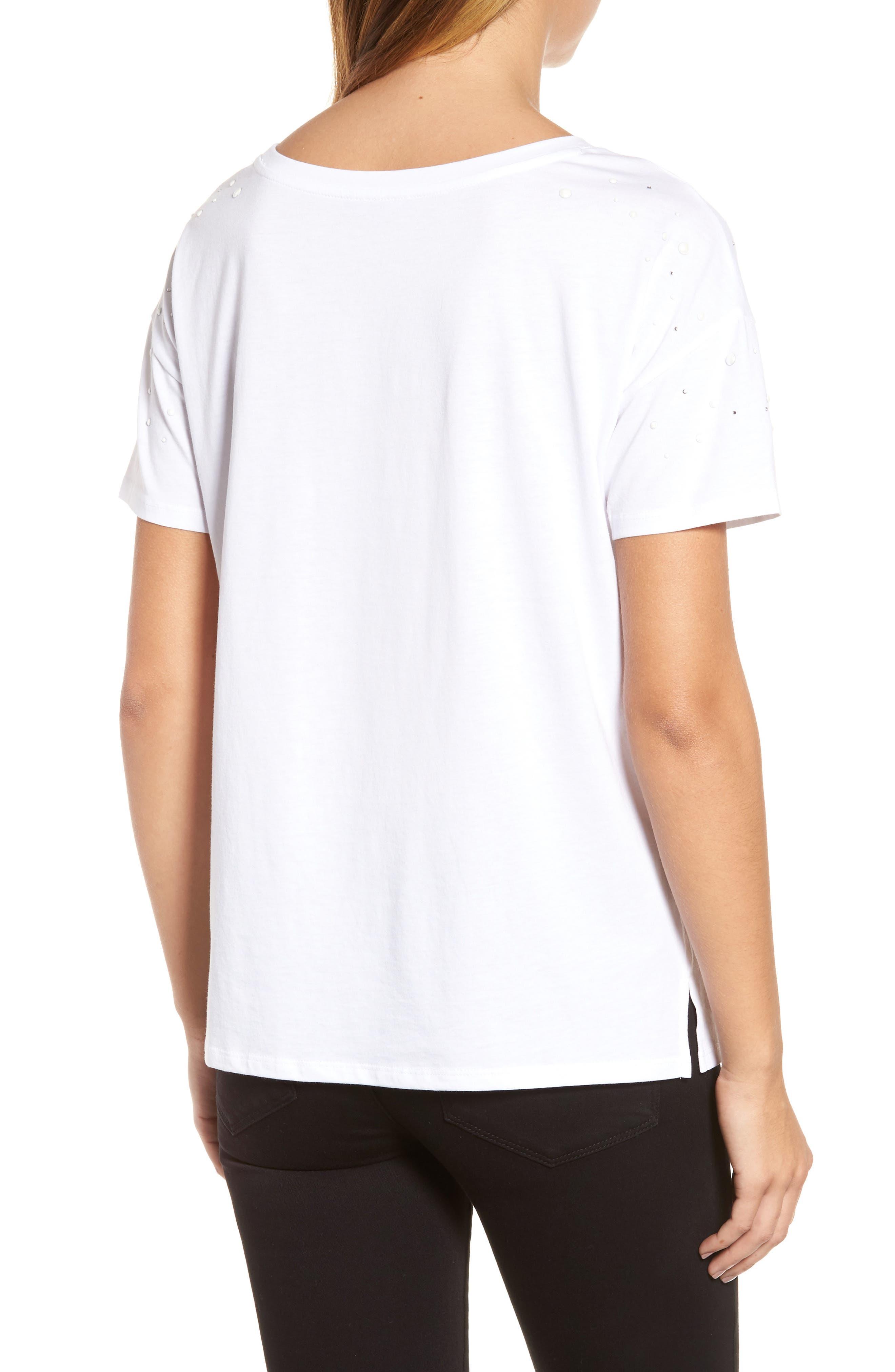 Short Sleeve Pearly T-Shirt,                             Alternate thumbnail 4, color,