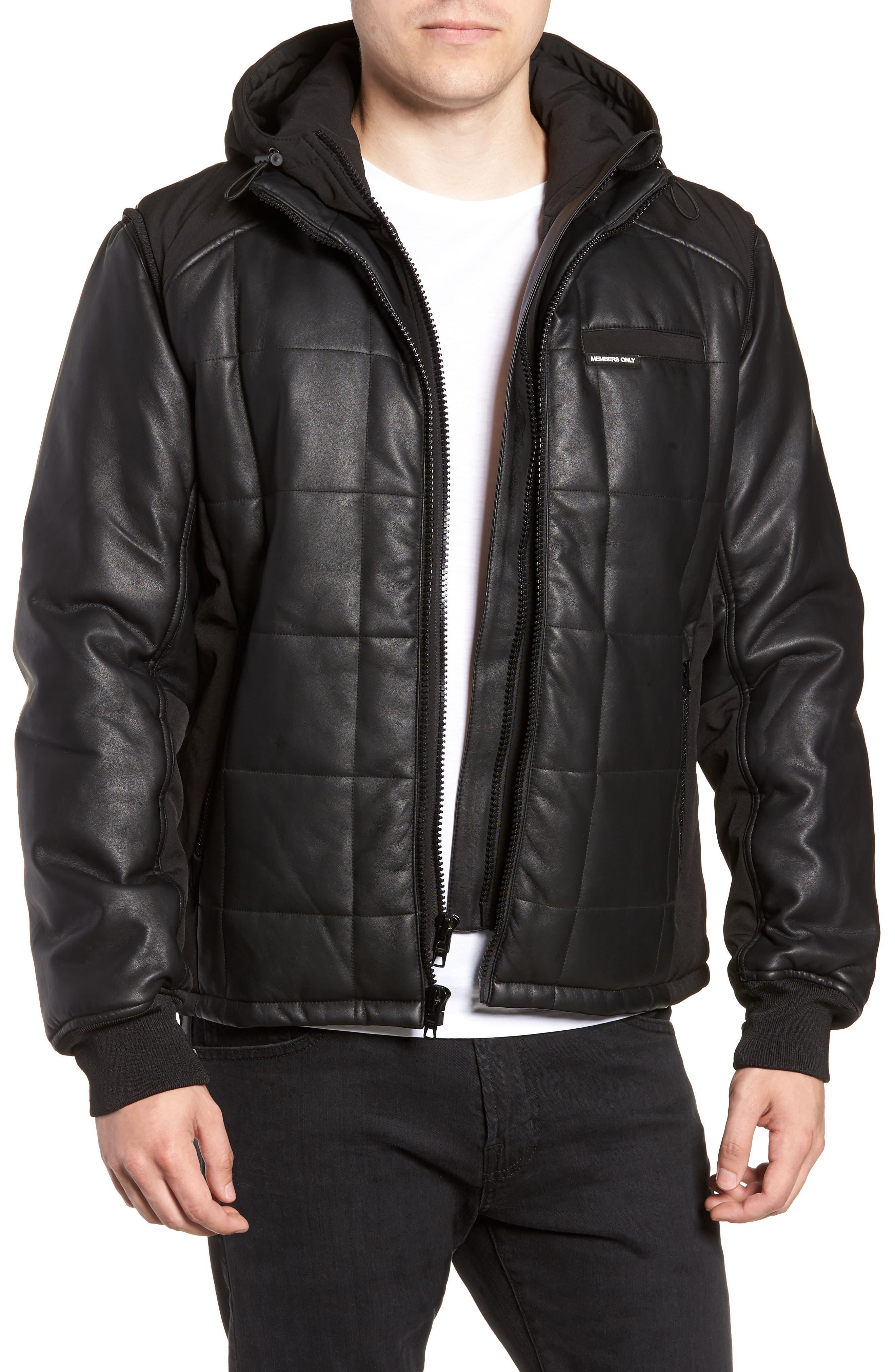 Quilted Convertible Vest/Jacket,                             Main thumbnail 1, color,                             BLACK