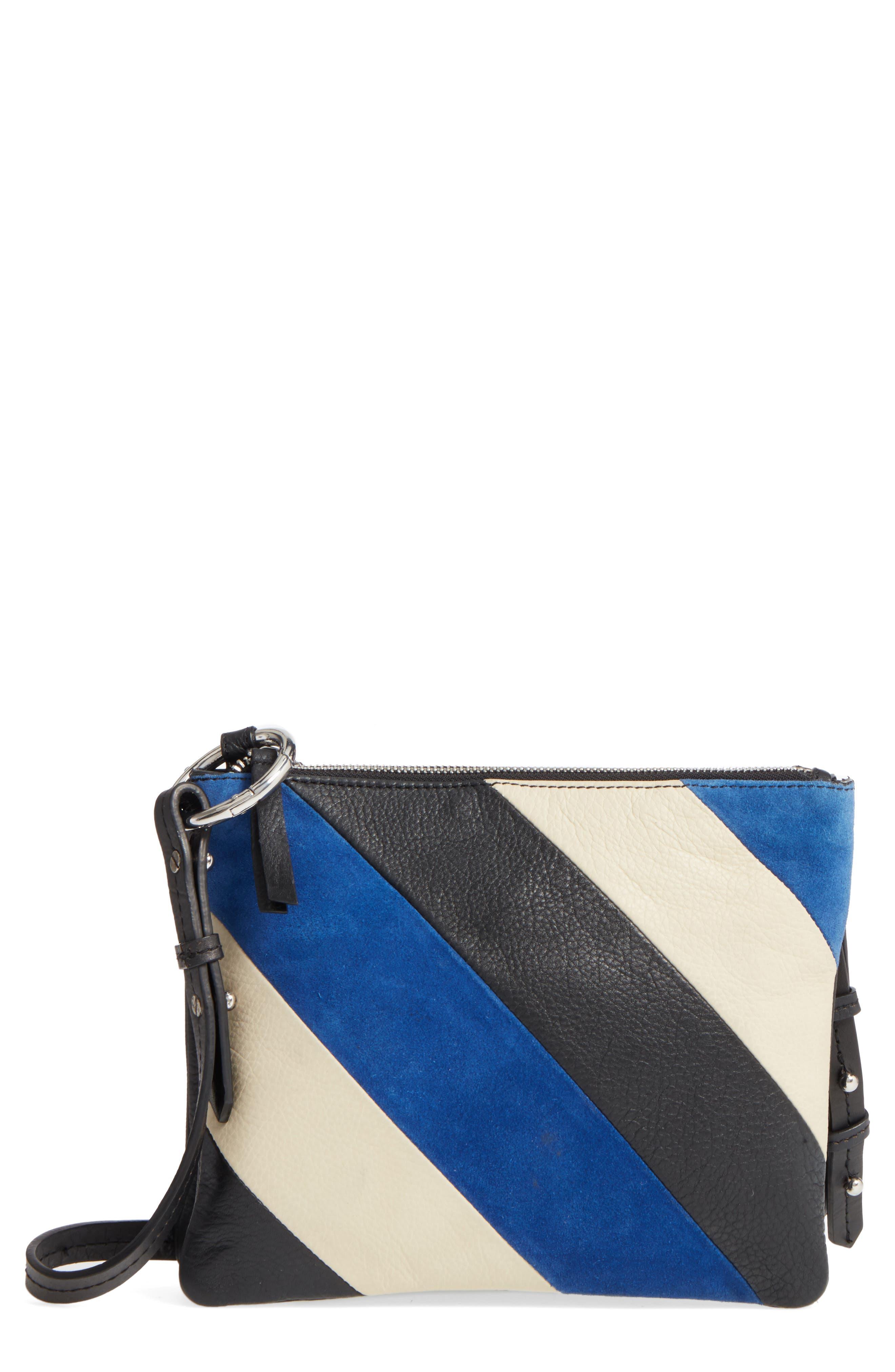 Premium Leather Bridget Crossbody Bag,                         Main,                         color, 001