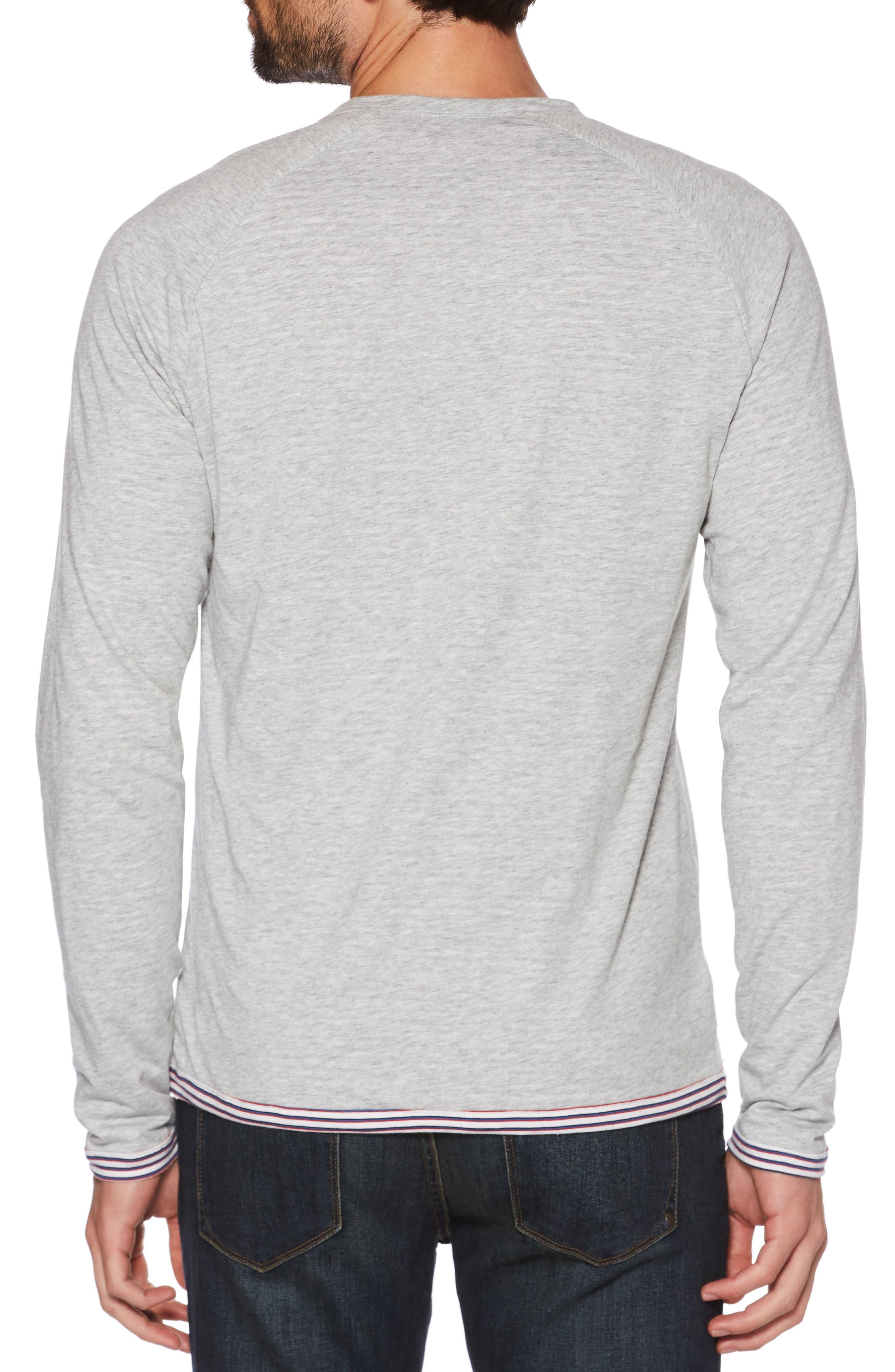 Reversible Long Sleeve Raglan T-Shirt,                             Alternate thumbnail 3, color,                             HIGH RISE
