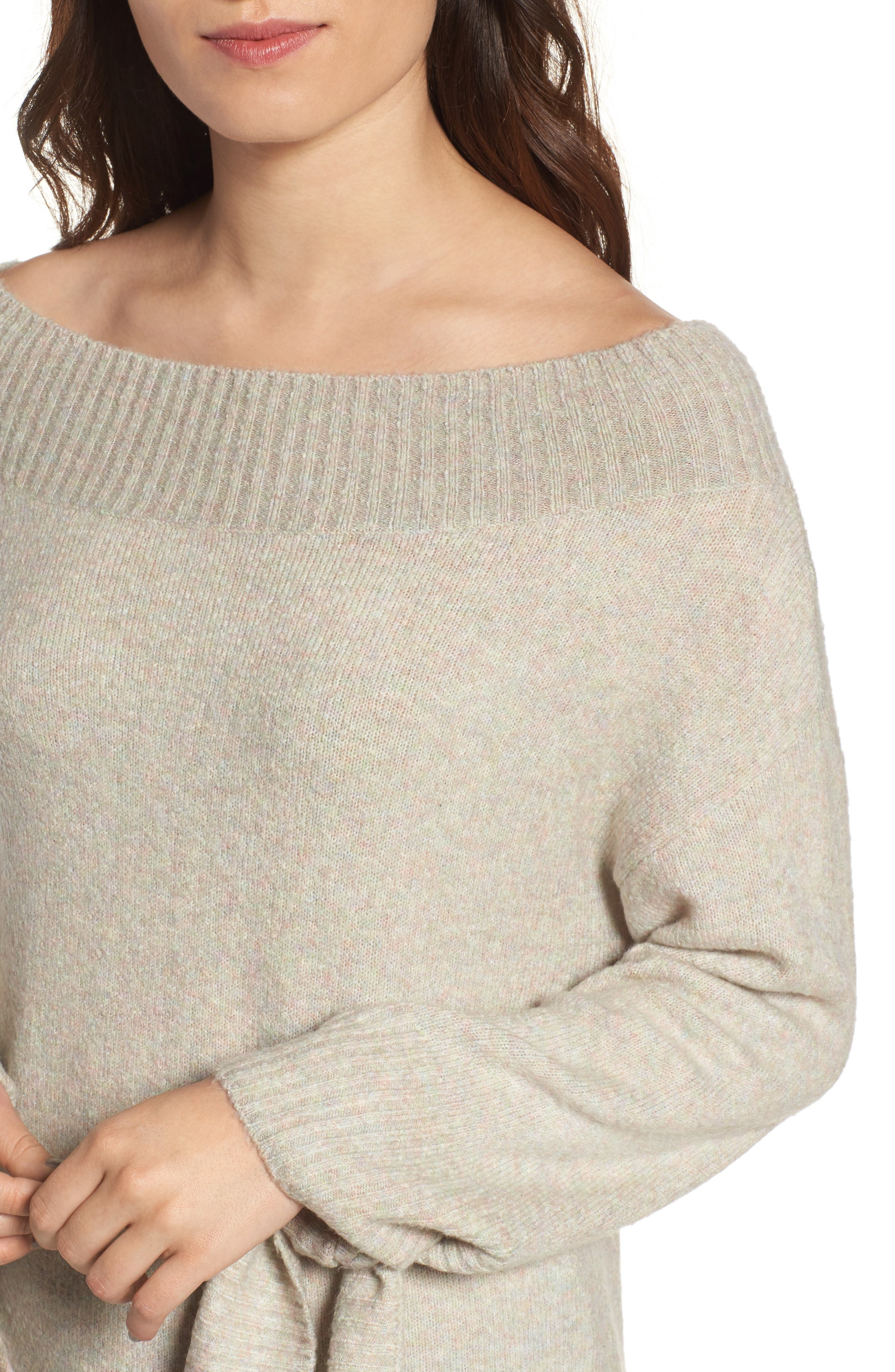 Off the Shoulder Sweater,                             Alternate thumbnail 14, color,