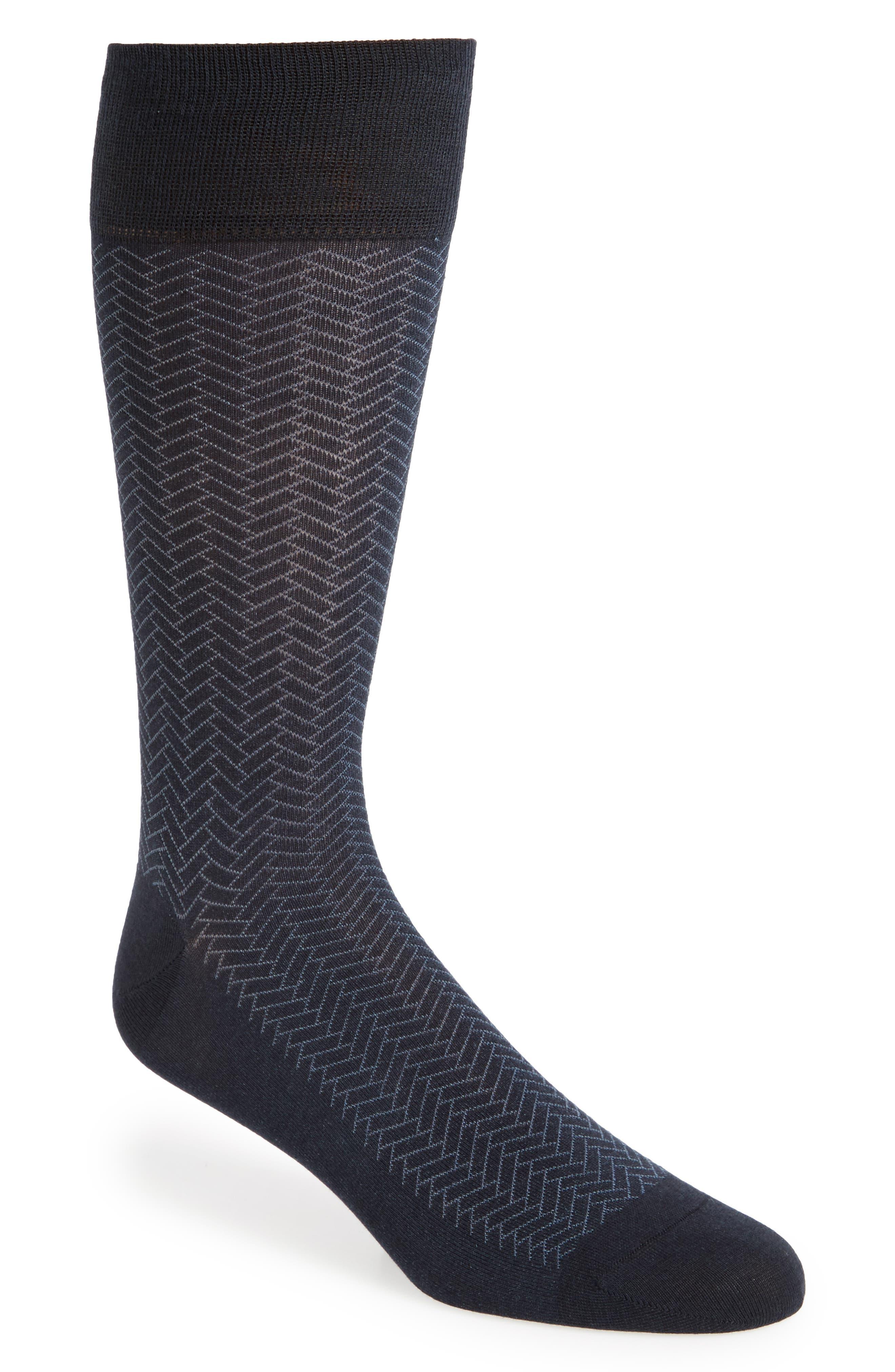 Geometric Crew Socks,                         Main,                         color, NAVY