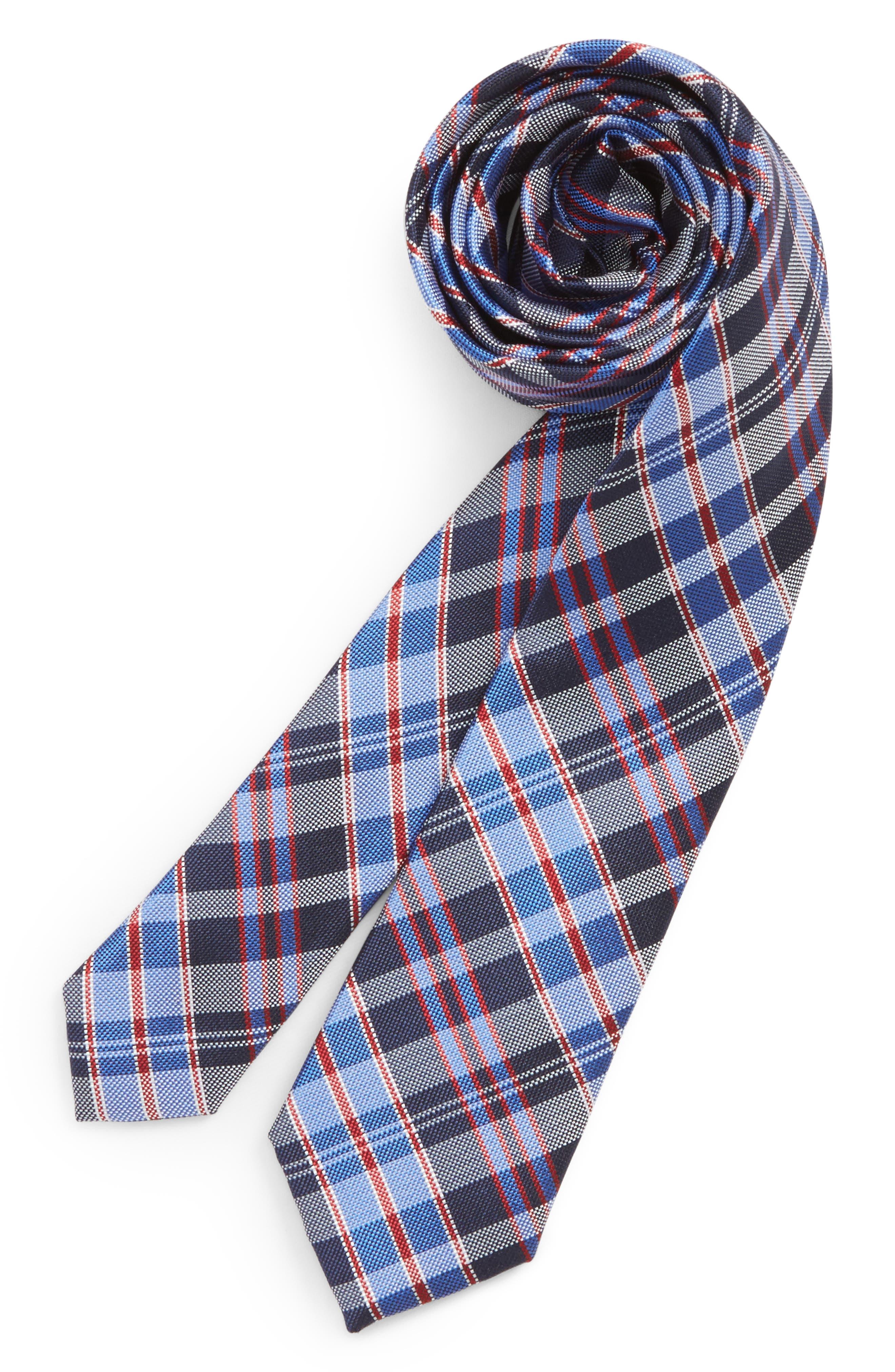 Check Silk Tie,                             Main thumbnail 3, color,