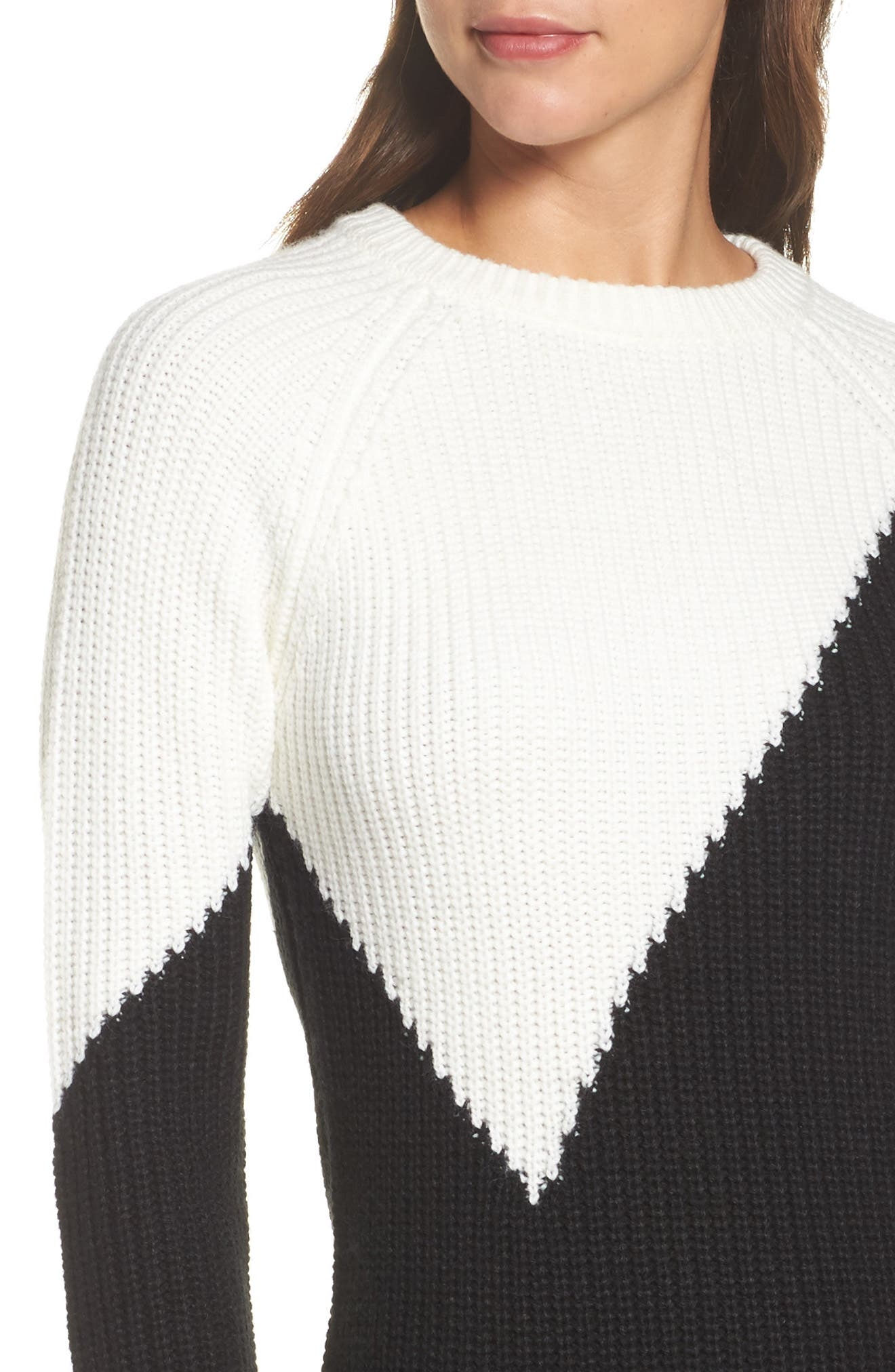 Colorblock Sweater Dress,                             Alternate thumbnail 4, color,                             010