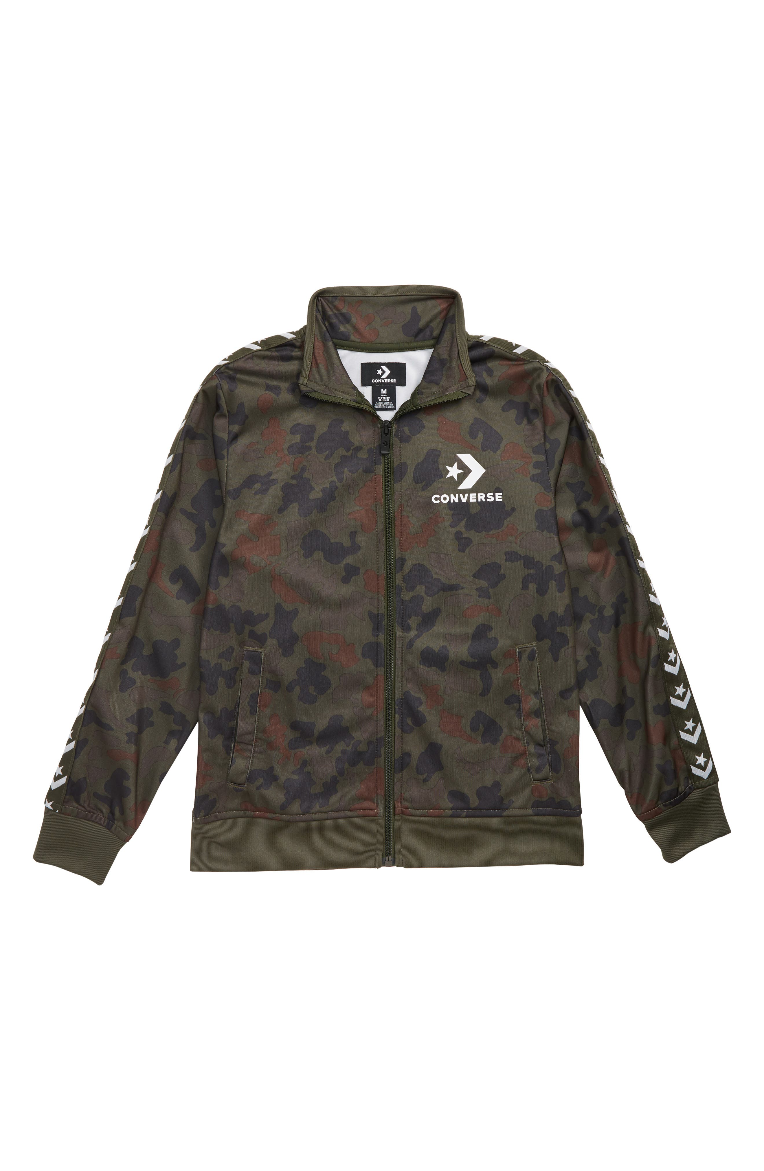 Tricot Track Jacket,                         Main,                         color, HERITAGE CAMO