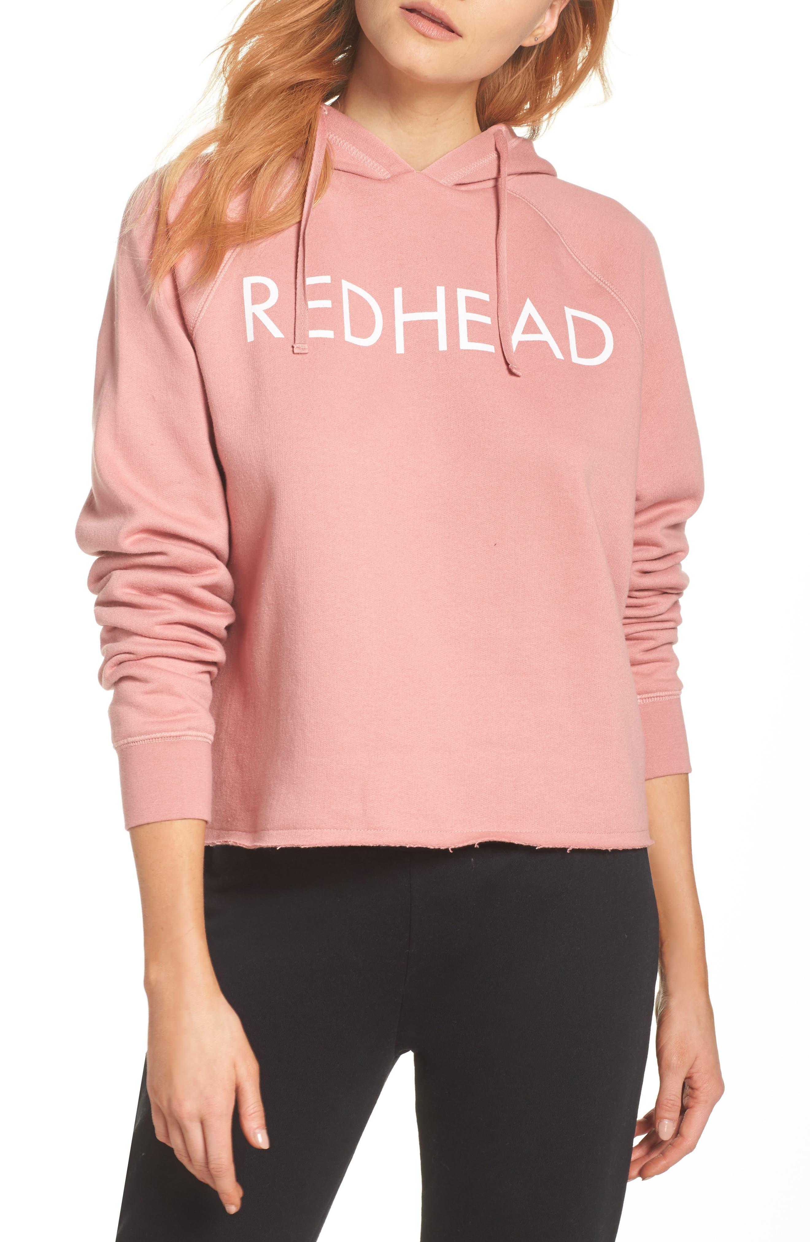 Redhead Raw Hem Hoodie,                         Main,                         color, 953