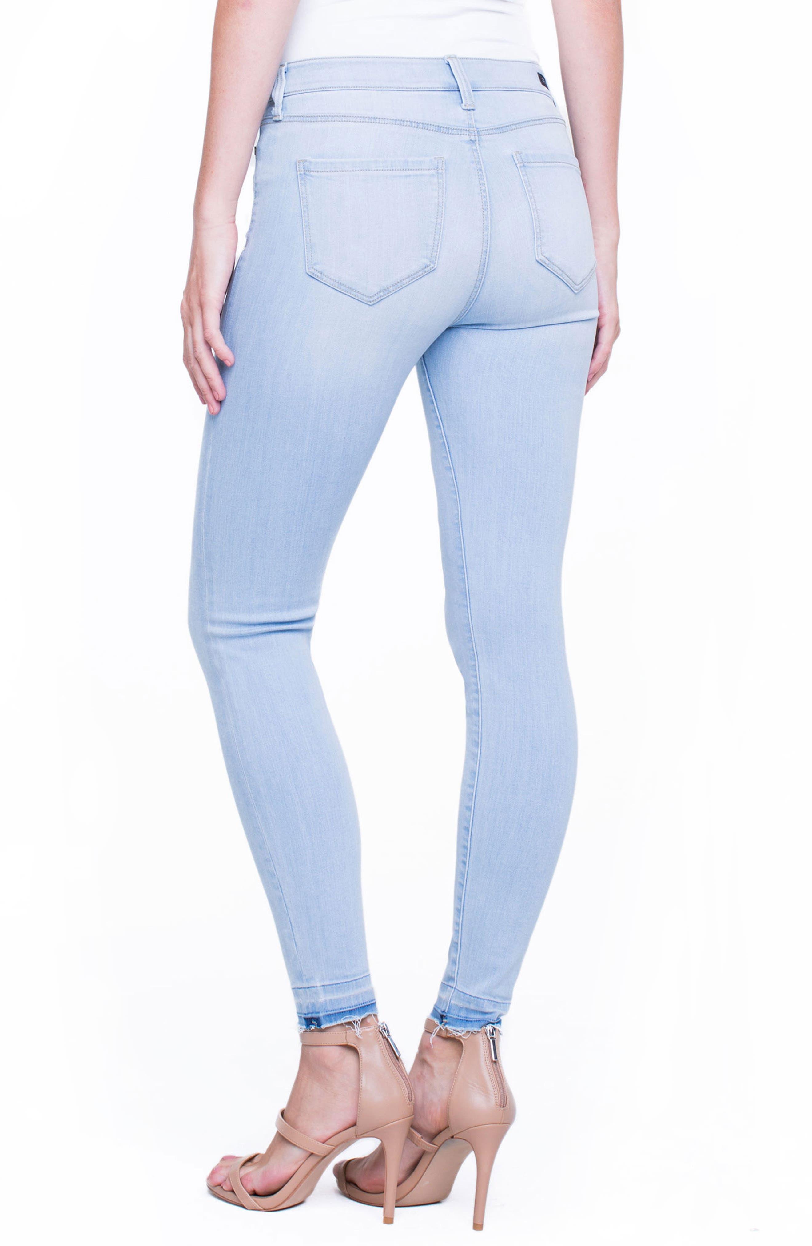 Parker Release Hem Ankle Skinny Jeans,                             Alternate thumbnail 2, color,
