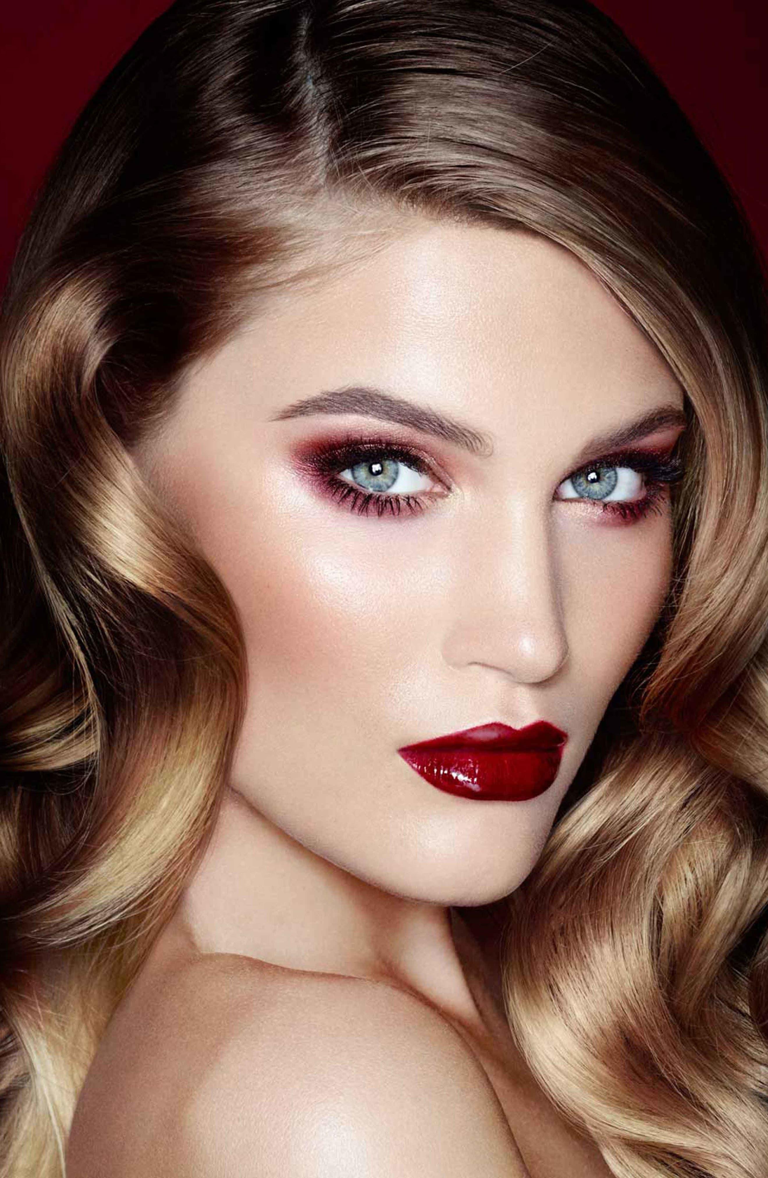 Luxury Palette - The Vintage Vamp Color-Coded Eyeshadow Palette,                             Alternate thumbnail 7, color,                             THE VINTAGE VAMP