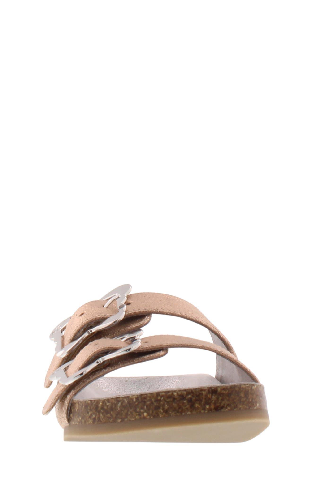 Ethel Chrysalis Slide Sandal,                             Alternate thumbnail 4, color,                             ROSE GOLD 2