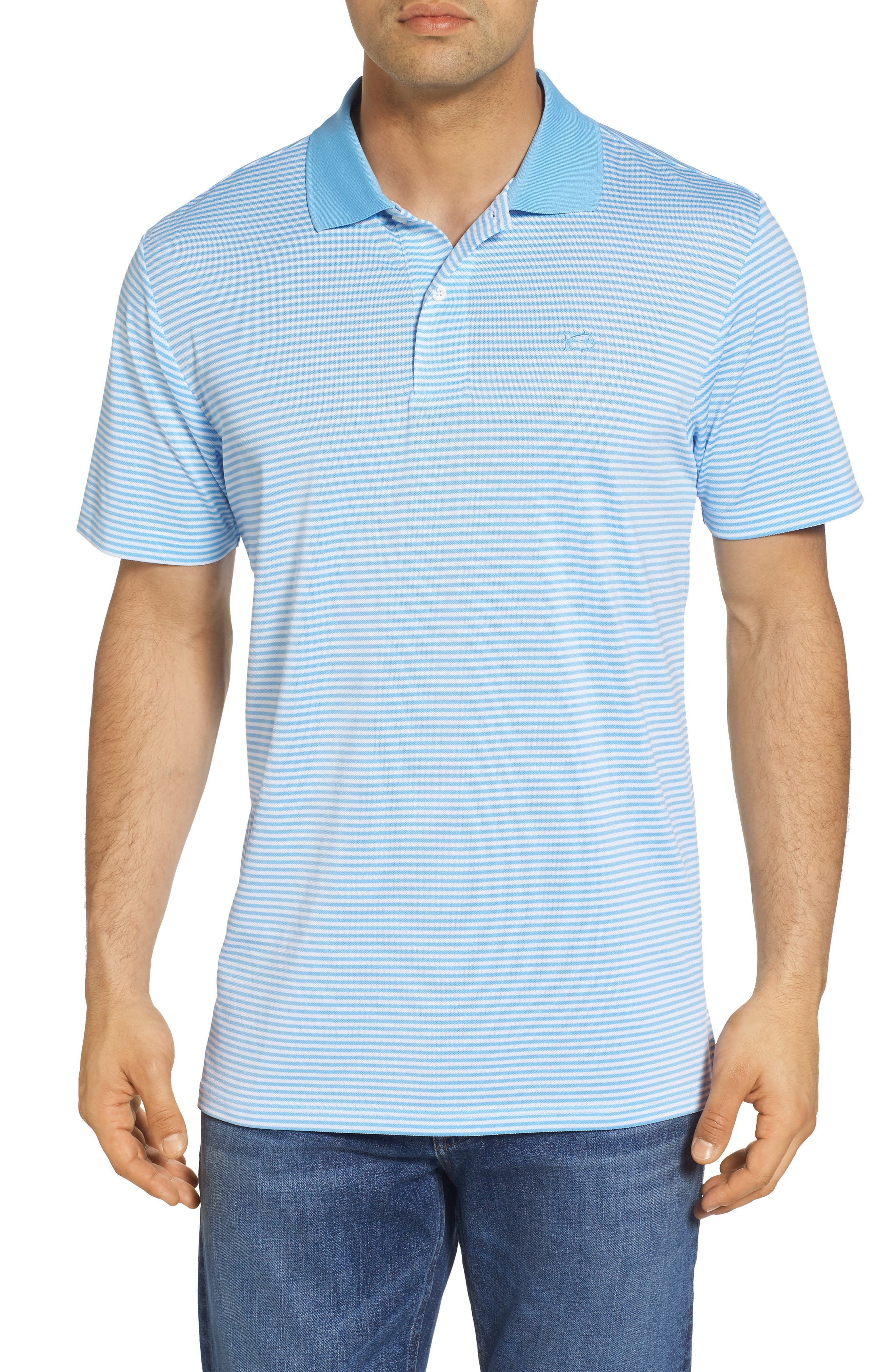 Regular Fit Stripe Stretch Polo,                             Main thumbnail 1, color,                             107