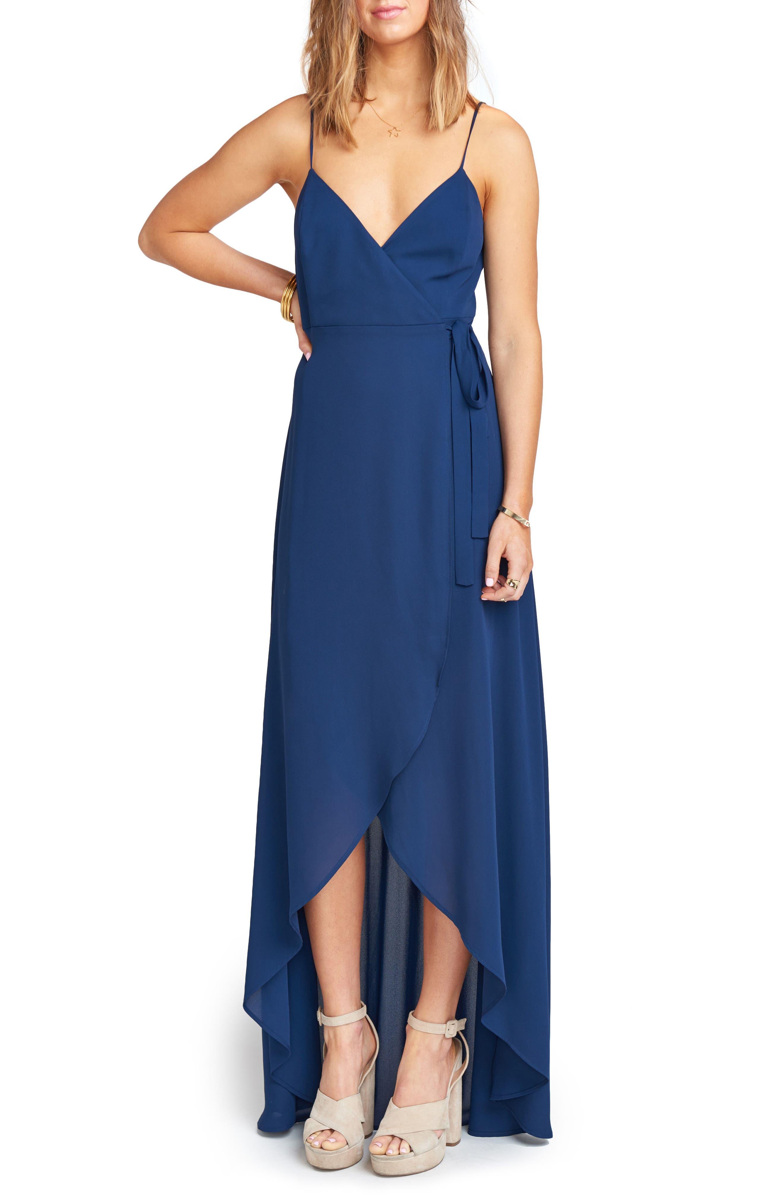 Show Me Your Mumu Mariah Wrap Maxi Dress, Blue