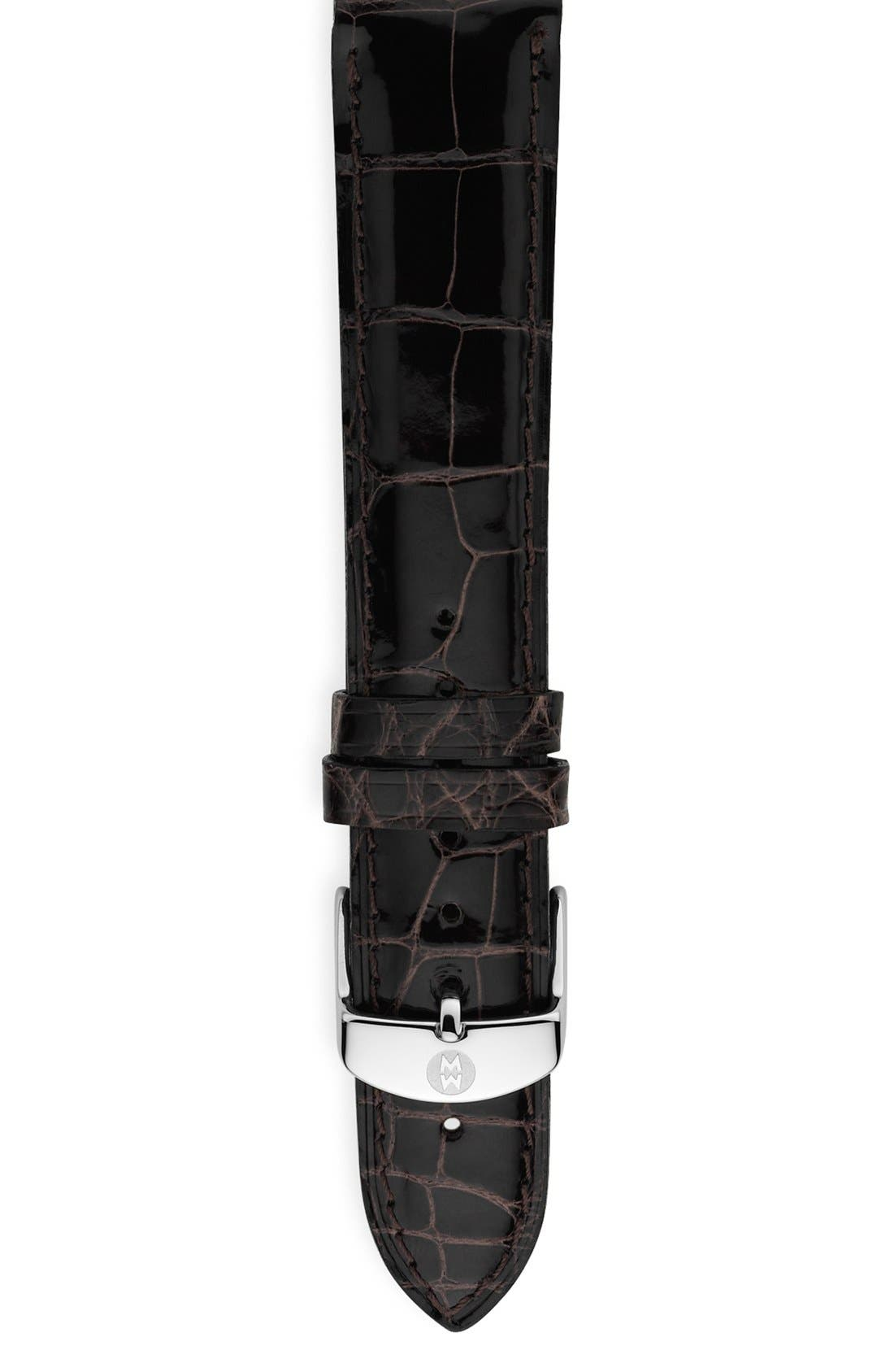 18mm Alligator Watch Strap,                             Main thumbnail 11, color,