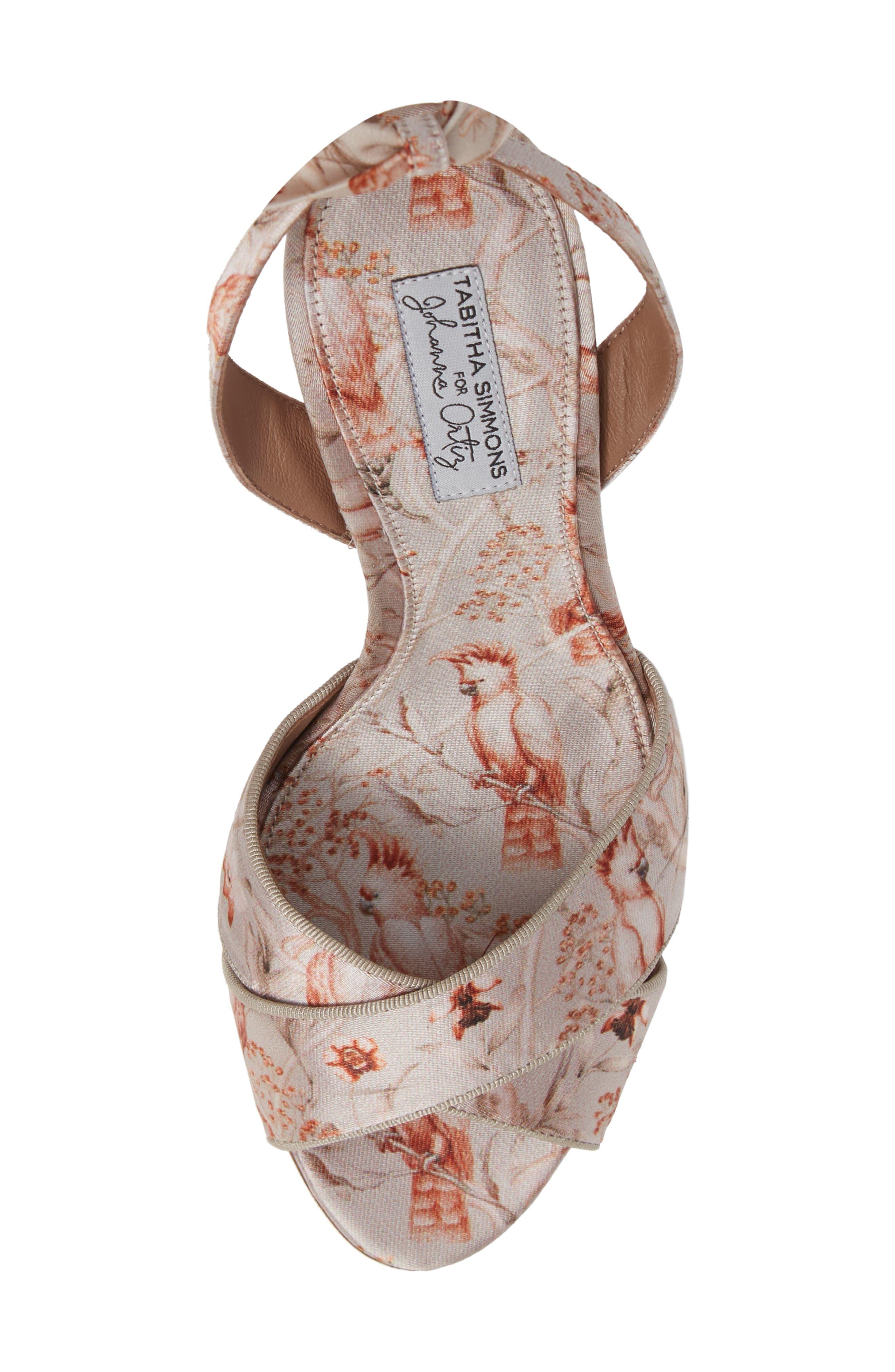 Connie Wrap Lace-Up Sandal,                             Alternate thumbnail 5, color,                             SAND