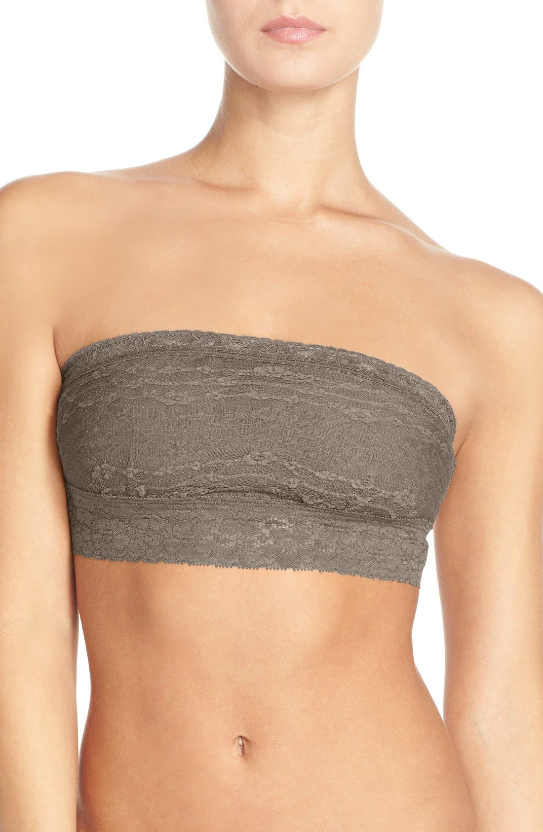 Intimately FP Lace Bandeau Bralette,                         Main,                         color, SOLID TAUPE