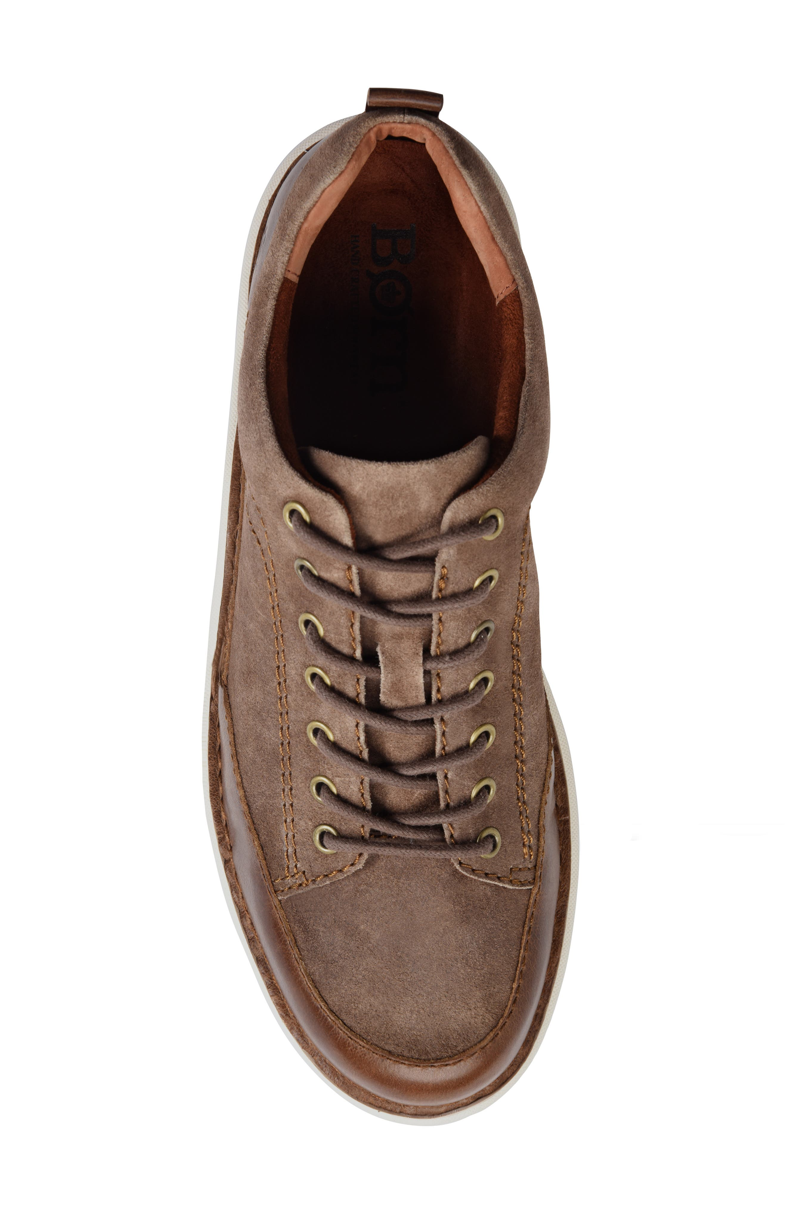 Kruger Moc Toe Sneaker,                             Alternate thumbnail 5, color,                             TAUPE LEATHER