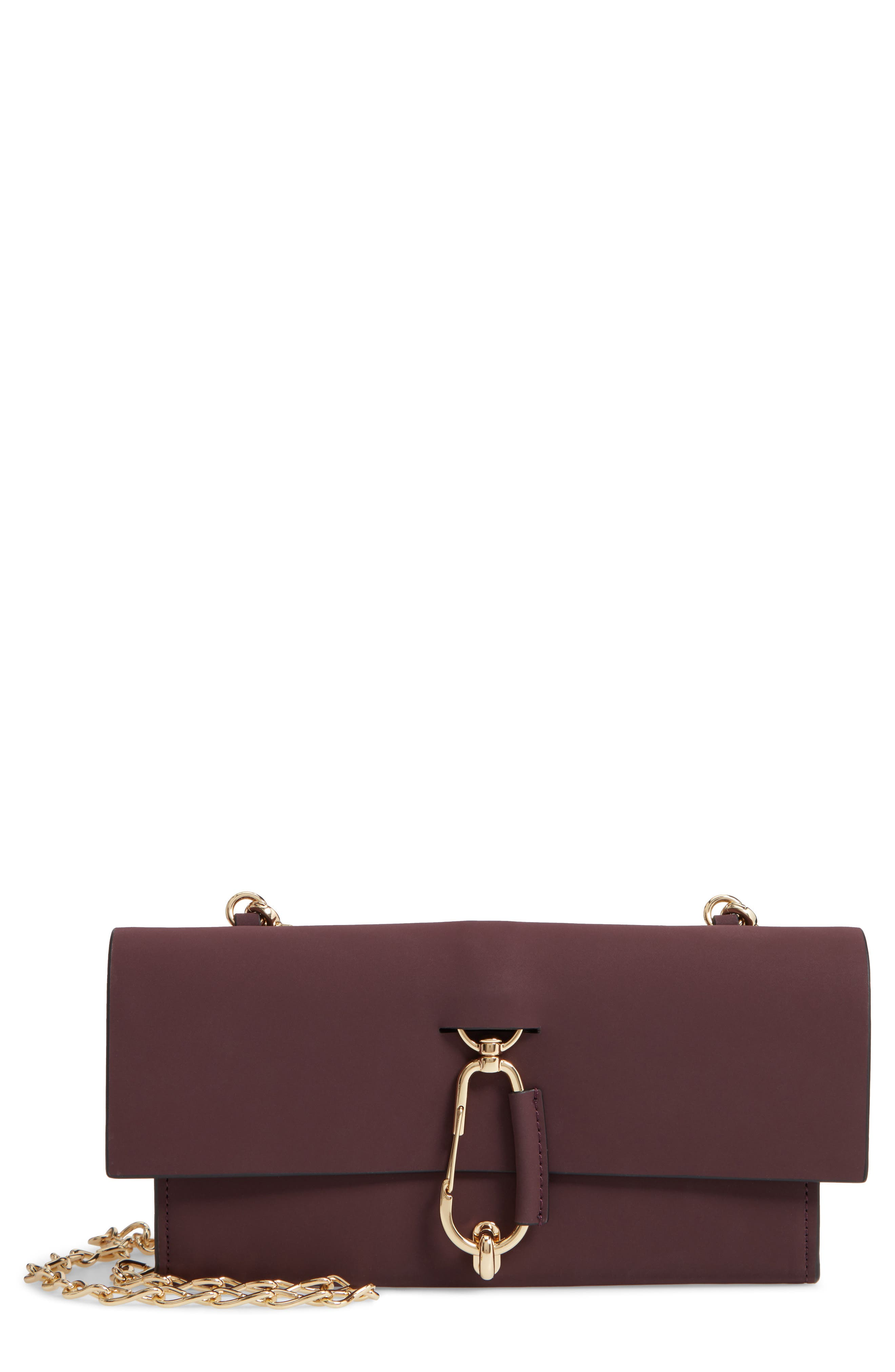 Belay Convertible Leather Clutch,                             Main thumbnail 1, color,                             VINEYARD