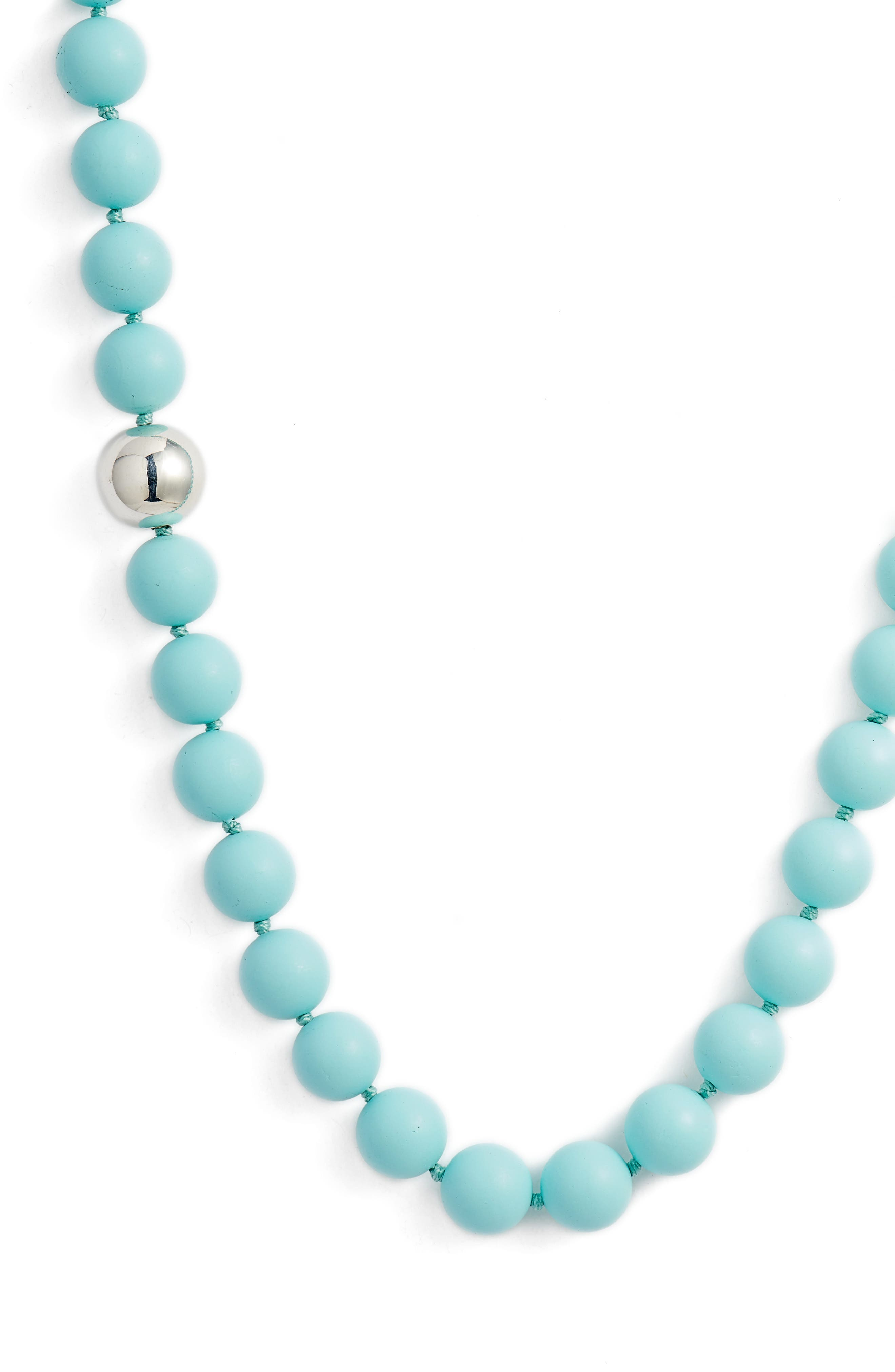 Silver Accent Beaded Necklace,                             Main thumbnail 2, color,