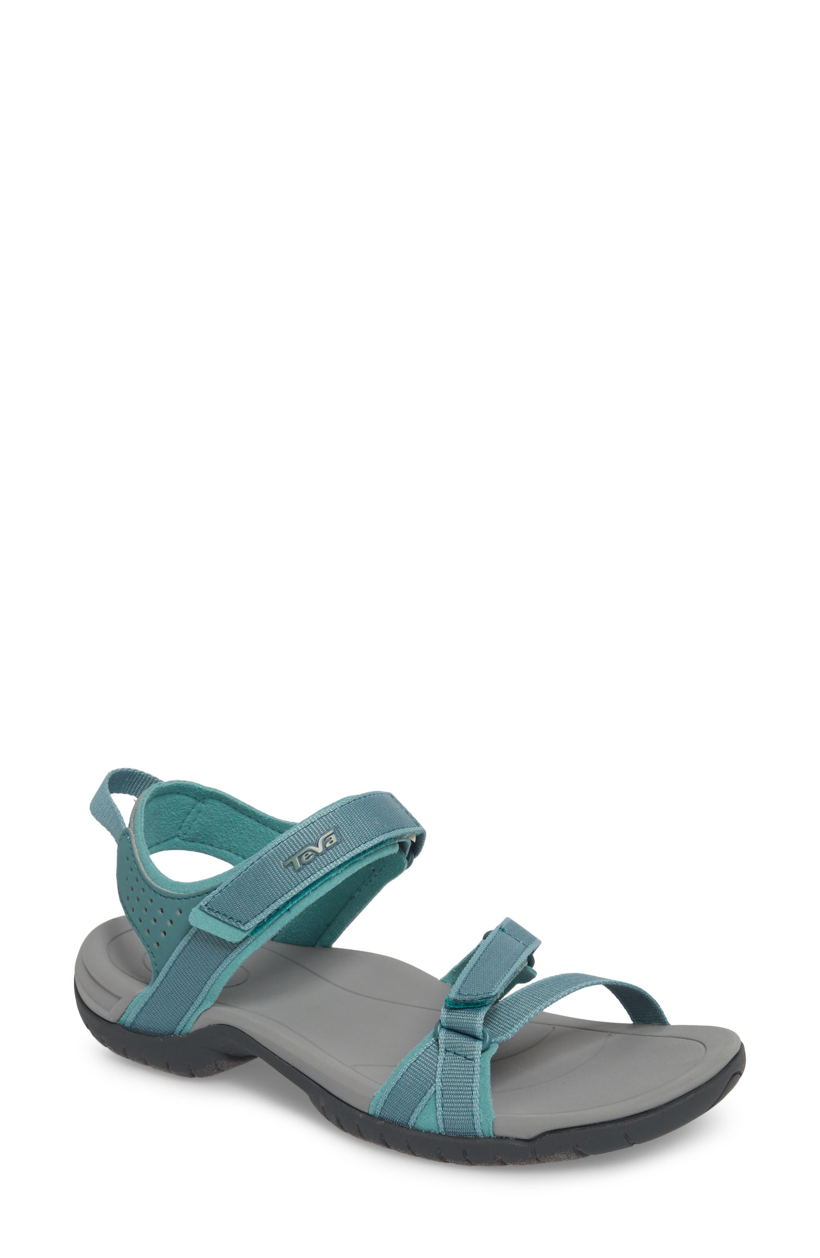 'Verra' Sandal,                             Main thumbnail 1, color,                             NORTH ATLANTIC