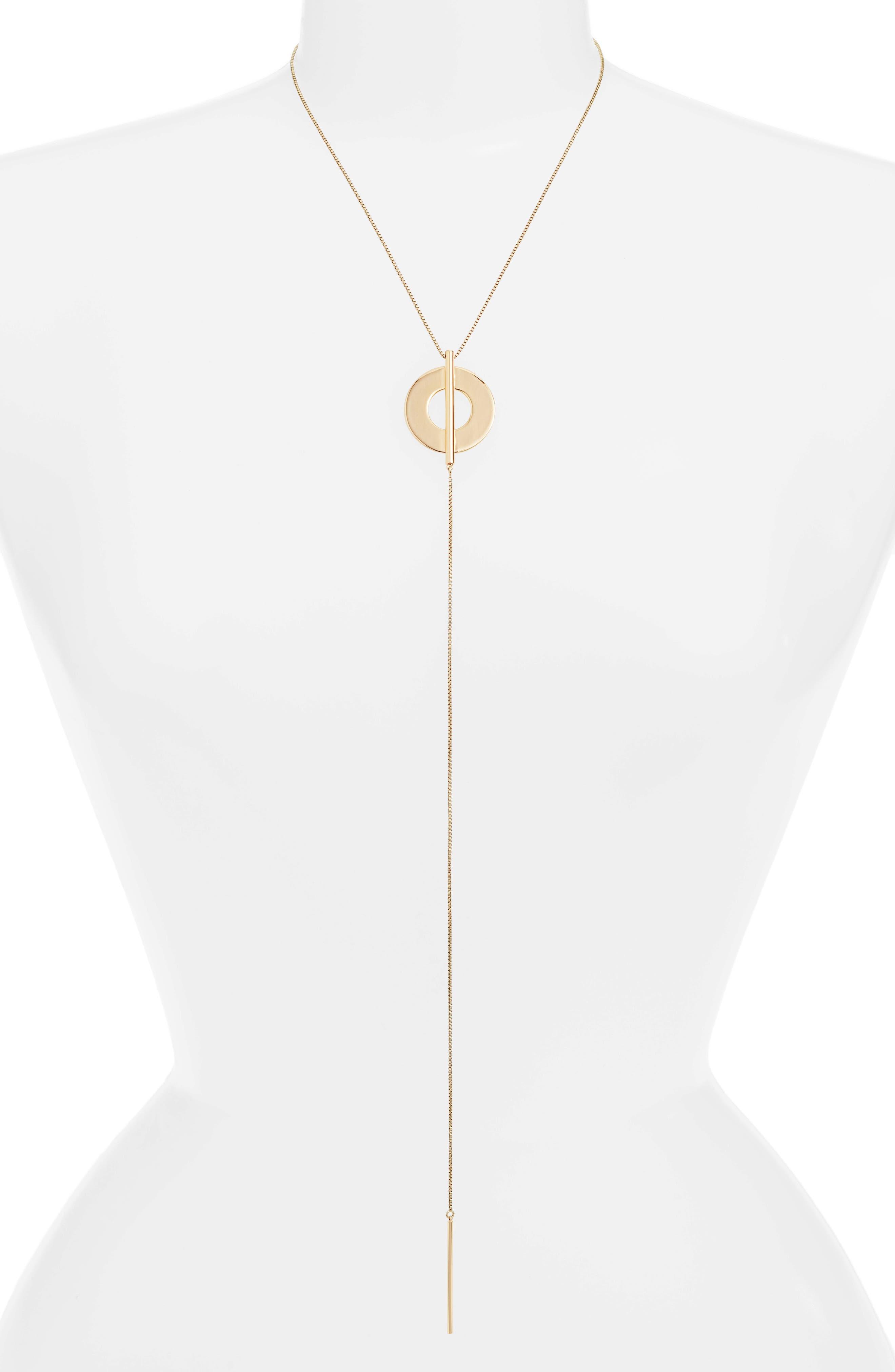 JENNY BIRD Carmine Y-Necklace in Gold